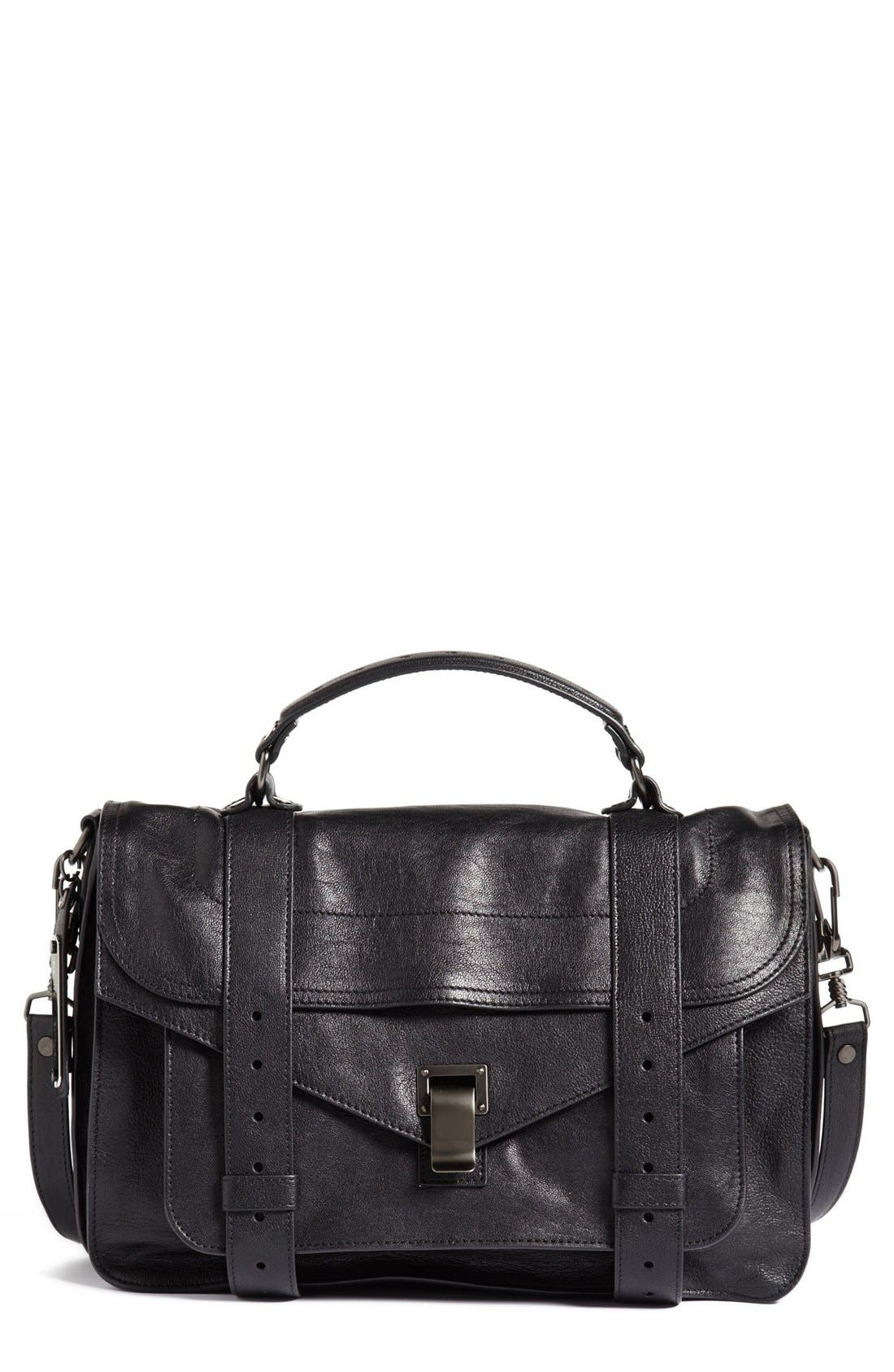 'Medium PS1' Satchel,                             Main thumbnail 1, color,                             BLACK