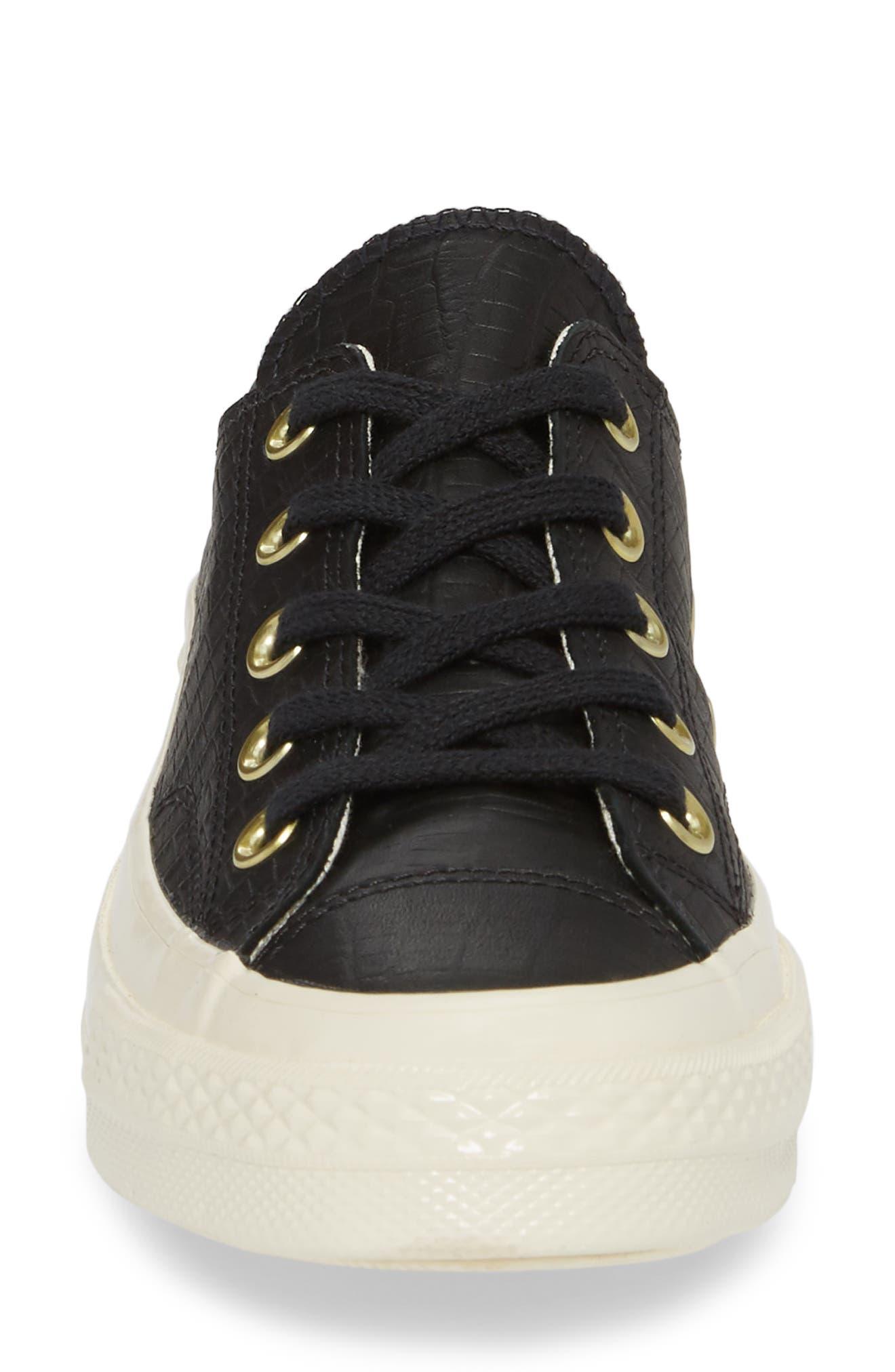 CT 70 Reptile Low Top Sneaker,                             Alternate thumbnail 4, color,                             001