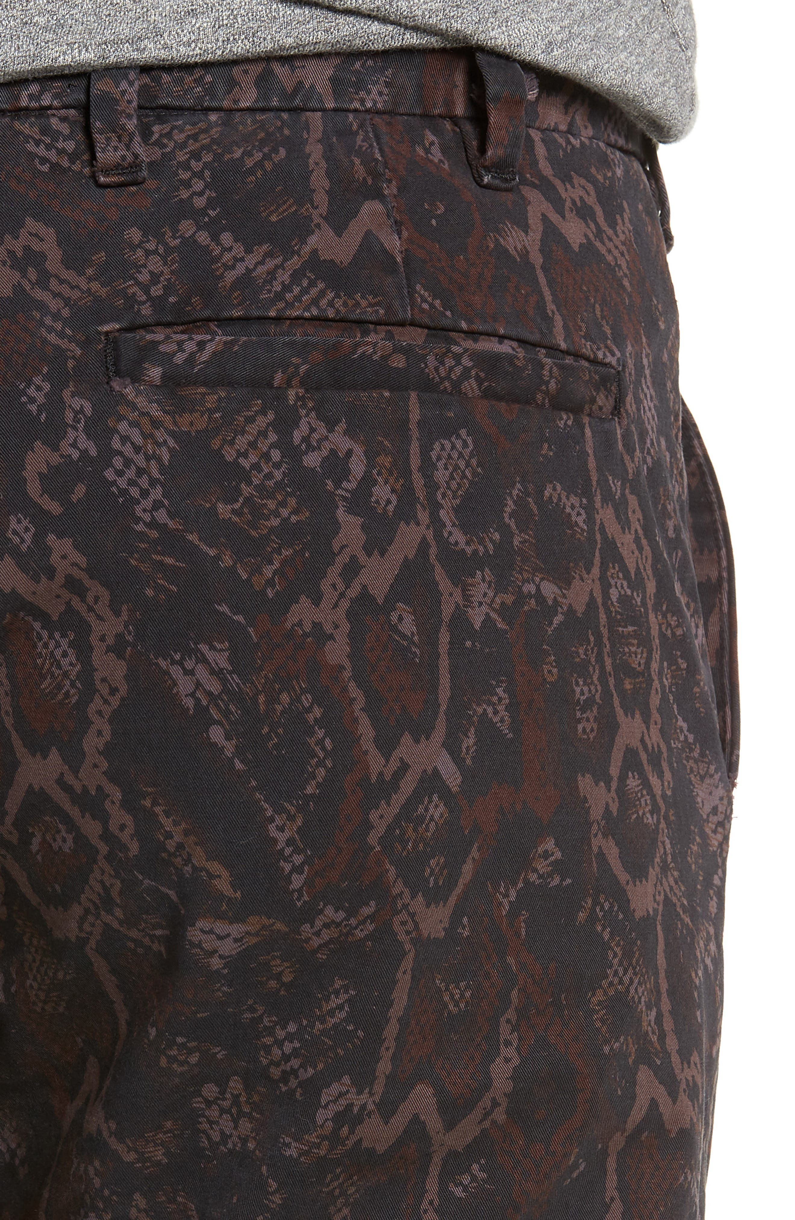 Tapered Fit Snakeskin Print Pants,                             Alternate thumbnail 4, color,                             GOLD MULTI
