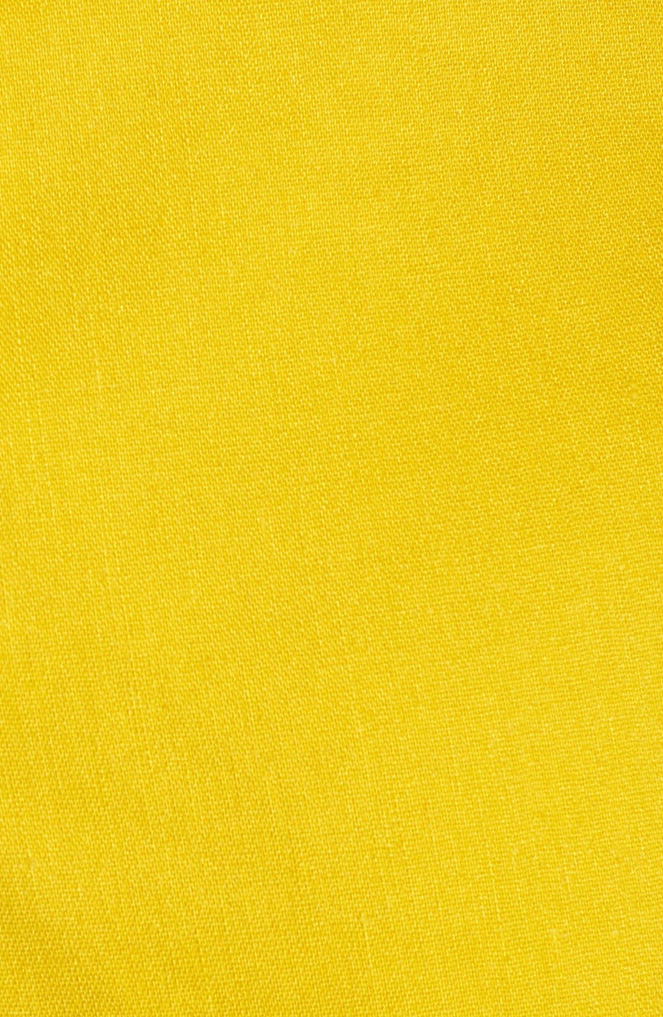 High Waist Linen Blend Shorts,                             Alternate thumbnail 24, color,