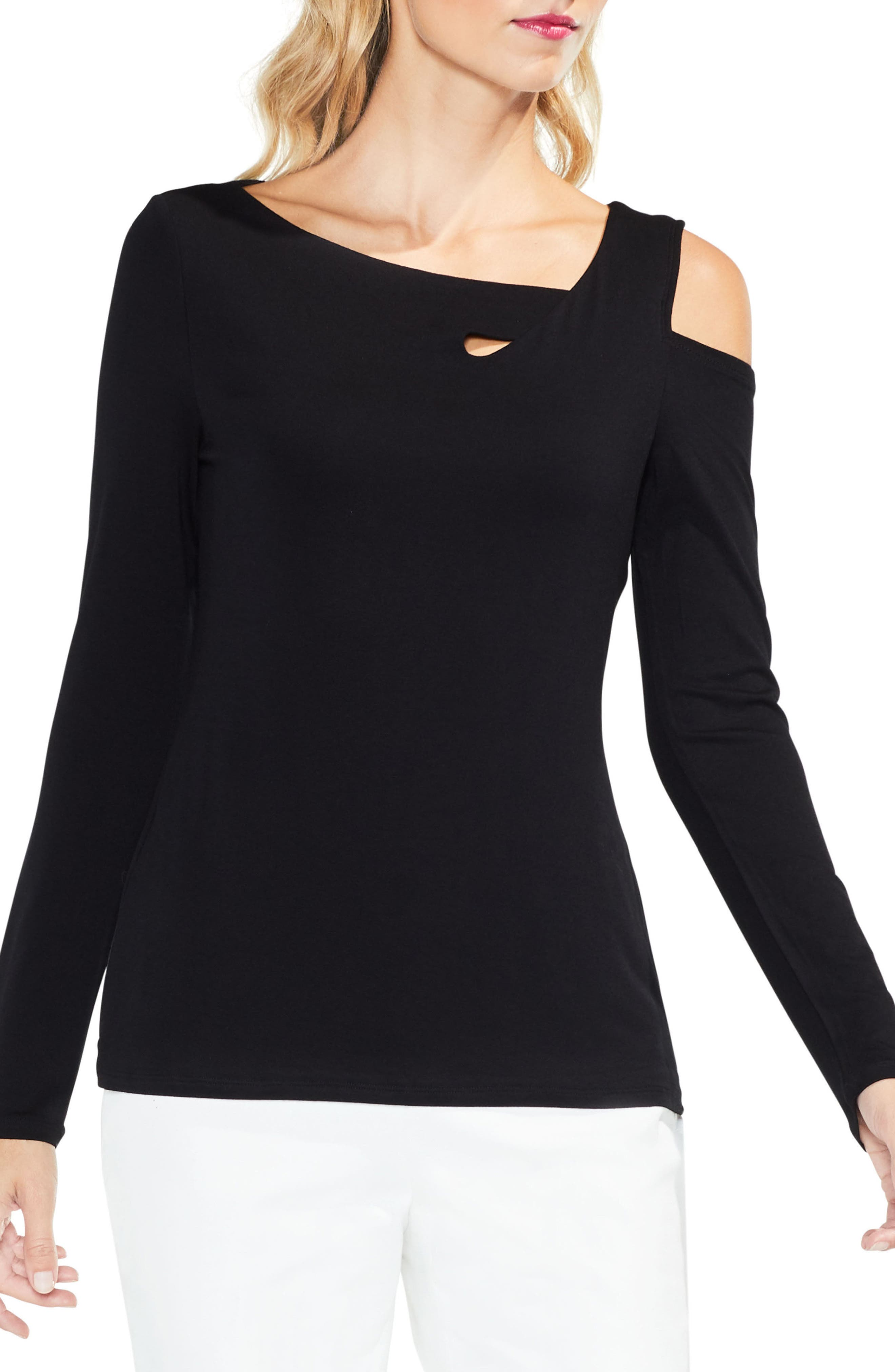 Twisted One Shoulder Top,                             Main thumbnail 1, color,                             006
