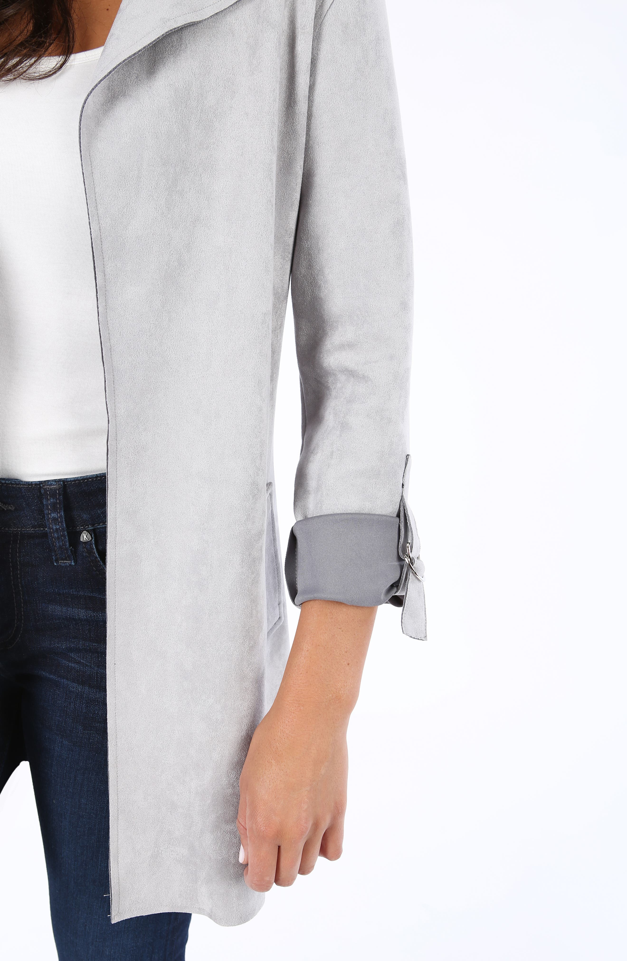 KUT FROM THE KLOTH,                             Faye Long Jacket,                             Alternate thumbnail 4, color,                             SILVER