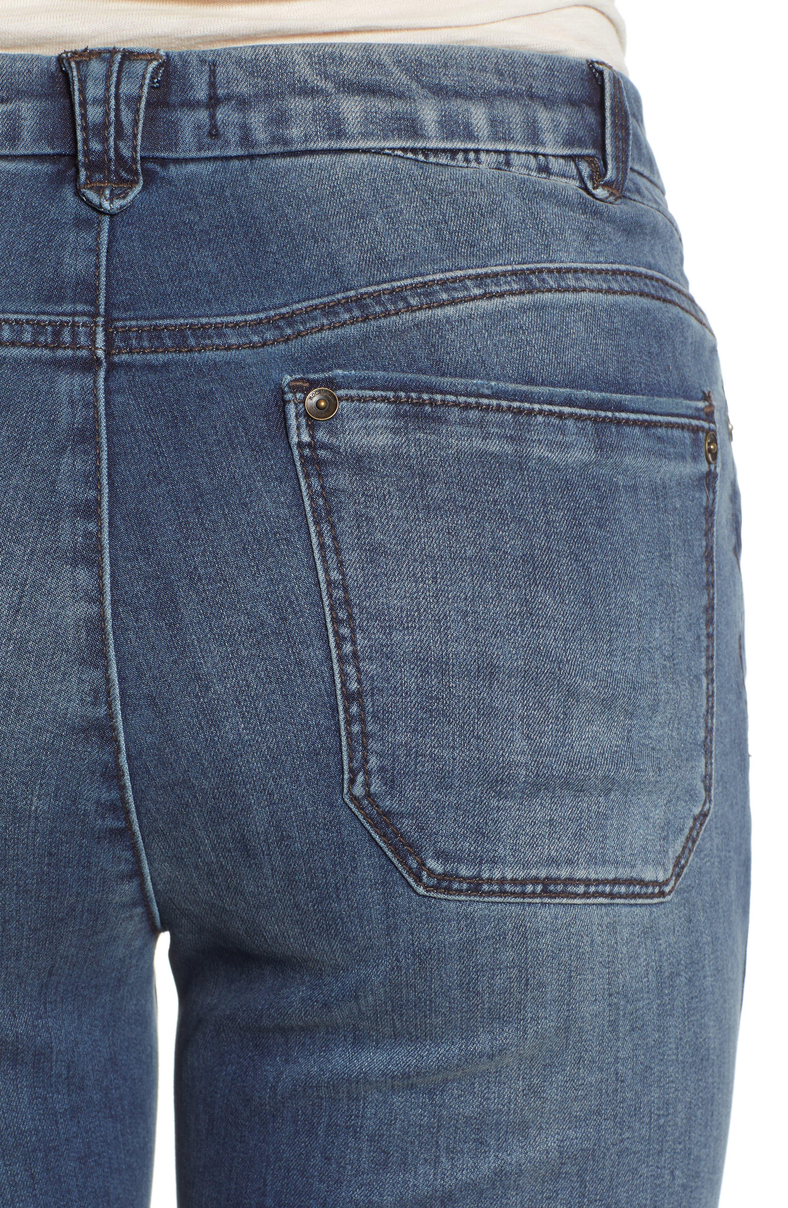 Ab-Solution High Waist Skinny Jeans,                             Alternate thumbnail 4, color,                             420