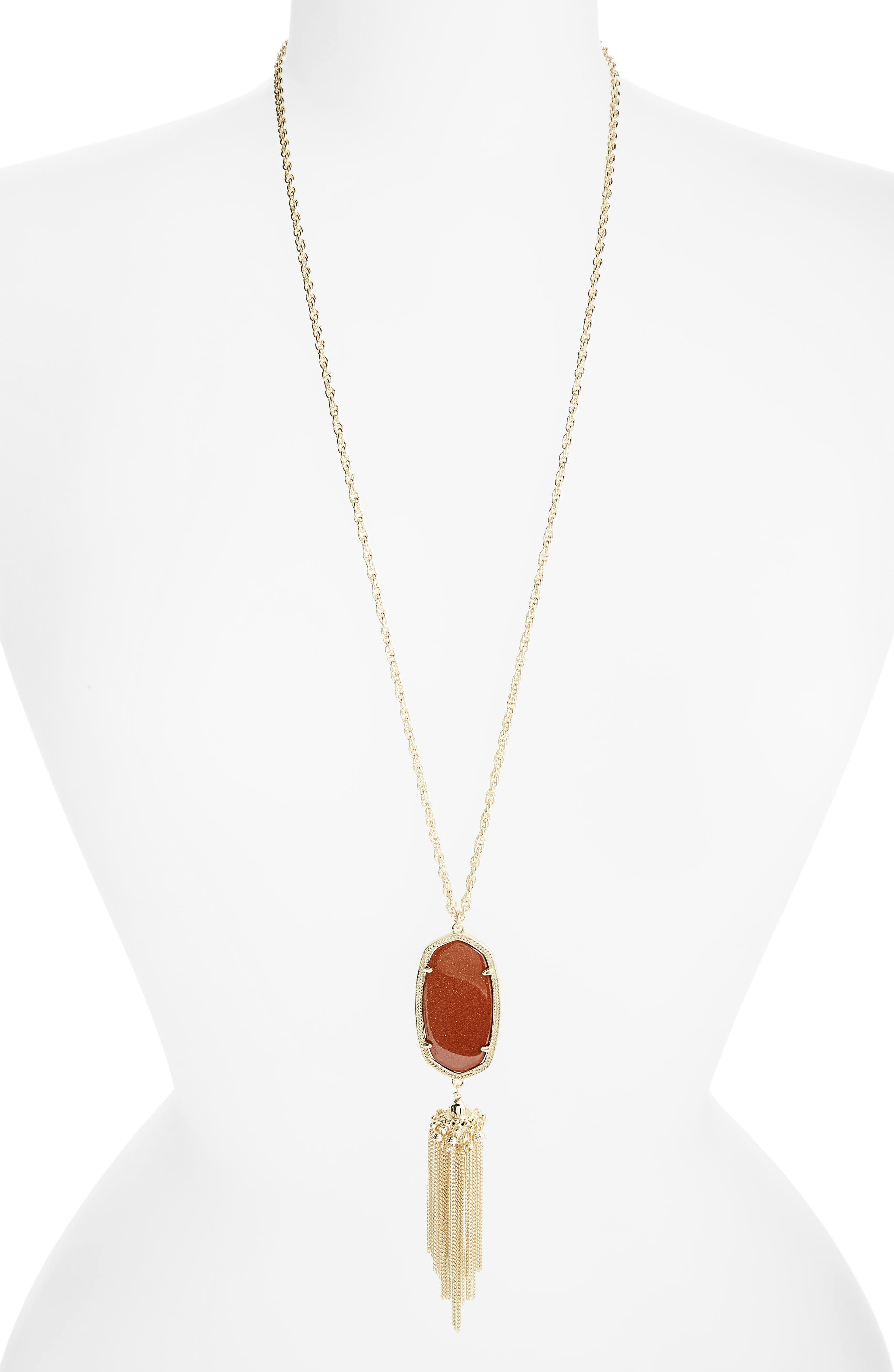 Rayne Stone Tassel Pendant Necklace,                             Alternate thumbnail 100, color,