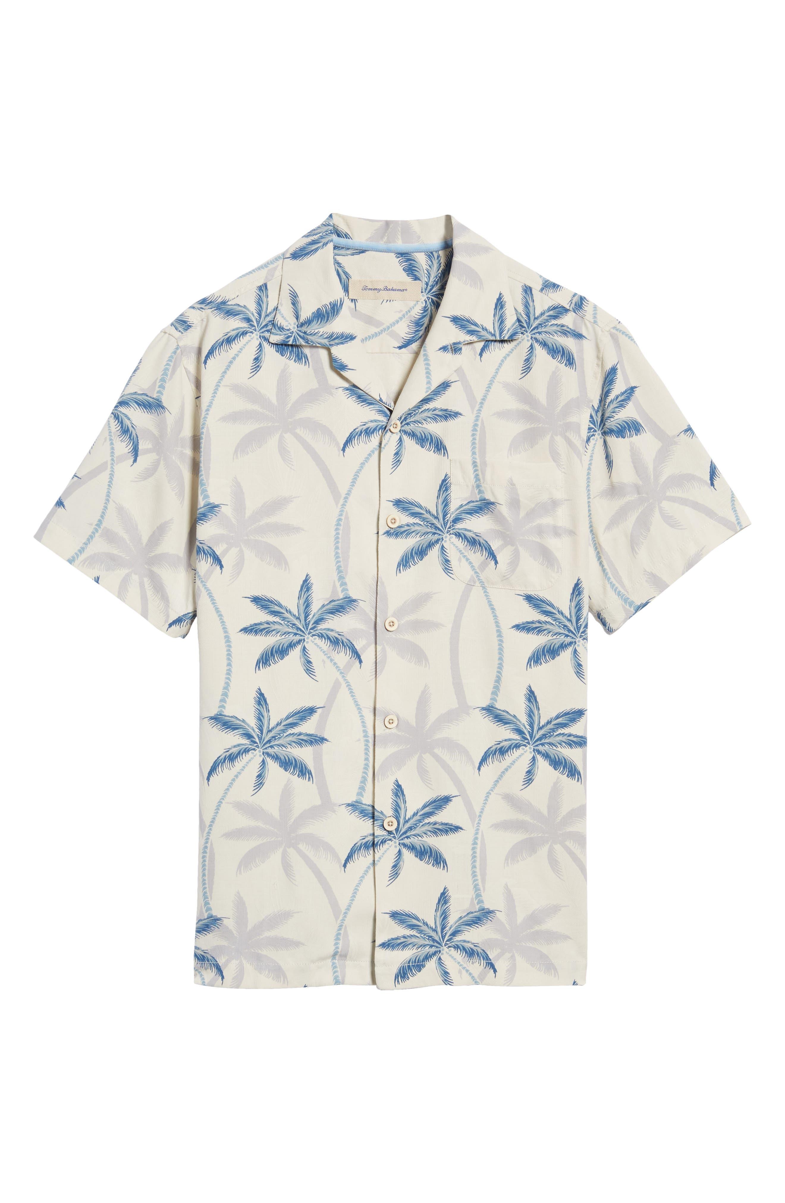 Palmas Palooza Woven Shirt,                             Alternate thumbnail 6, color,                             100