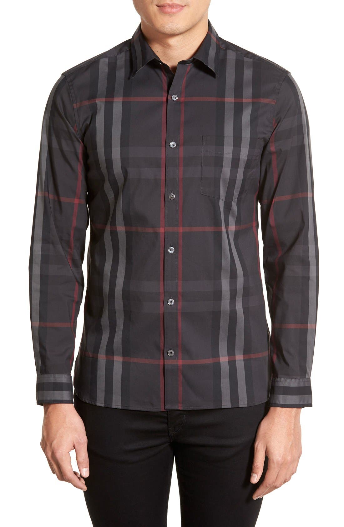 Nelson Check Sport Shirt,                             Main thumbnail 3, color,