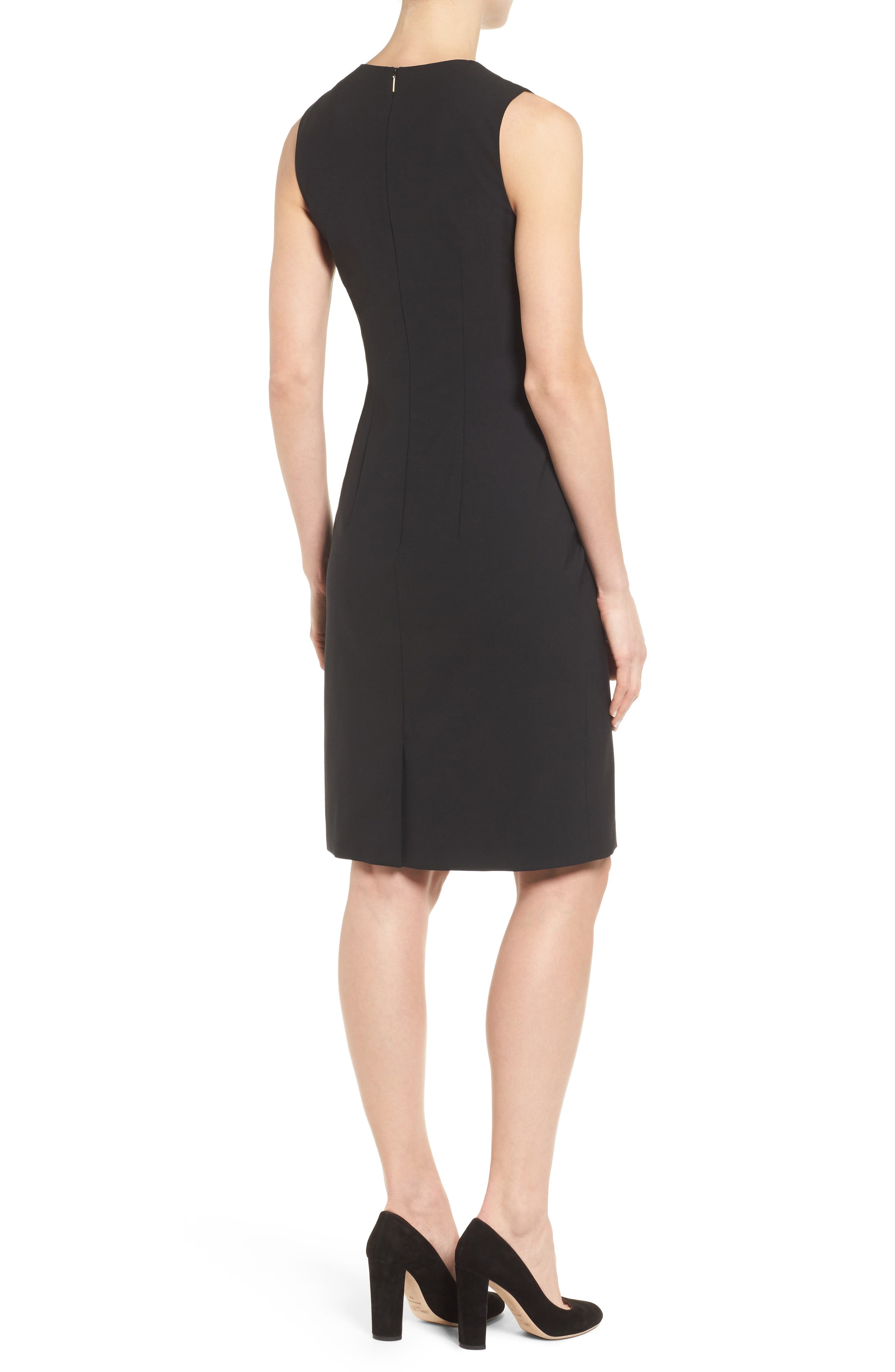 Dirusa Tropical Stretch Wool Dress,                             Alternate thumbnail 2, color,                             BLACK