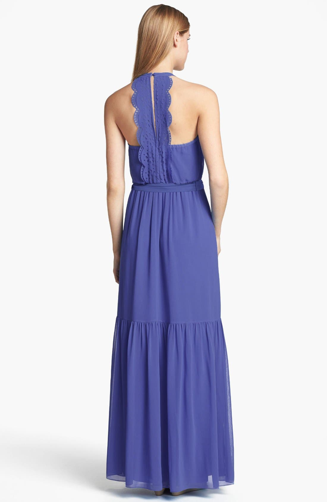 Laser Cutout Maxi Dress,                             Alternate thumbnail 2, color,                             522