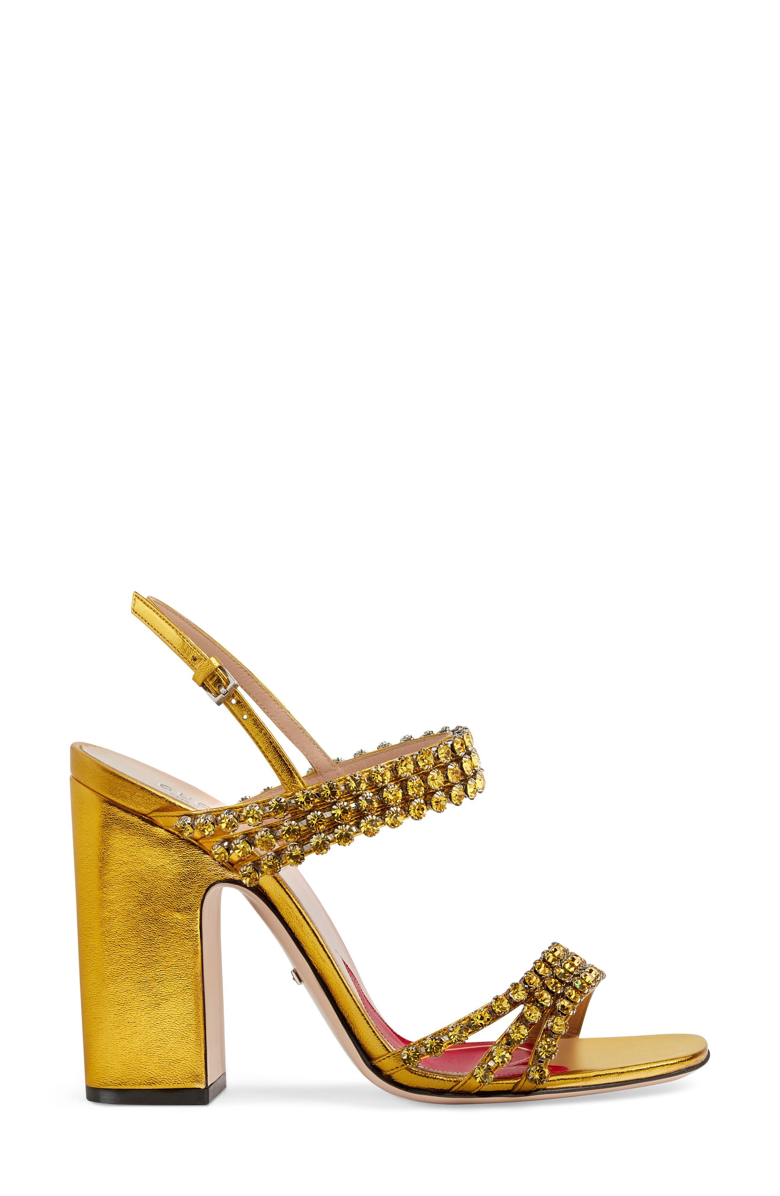 Bertie Jewel Sandal,                             Alternate thumbnail 2, color,                             GOLD LEATHER