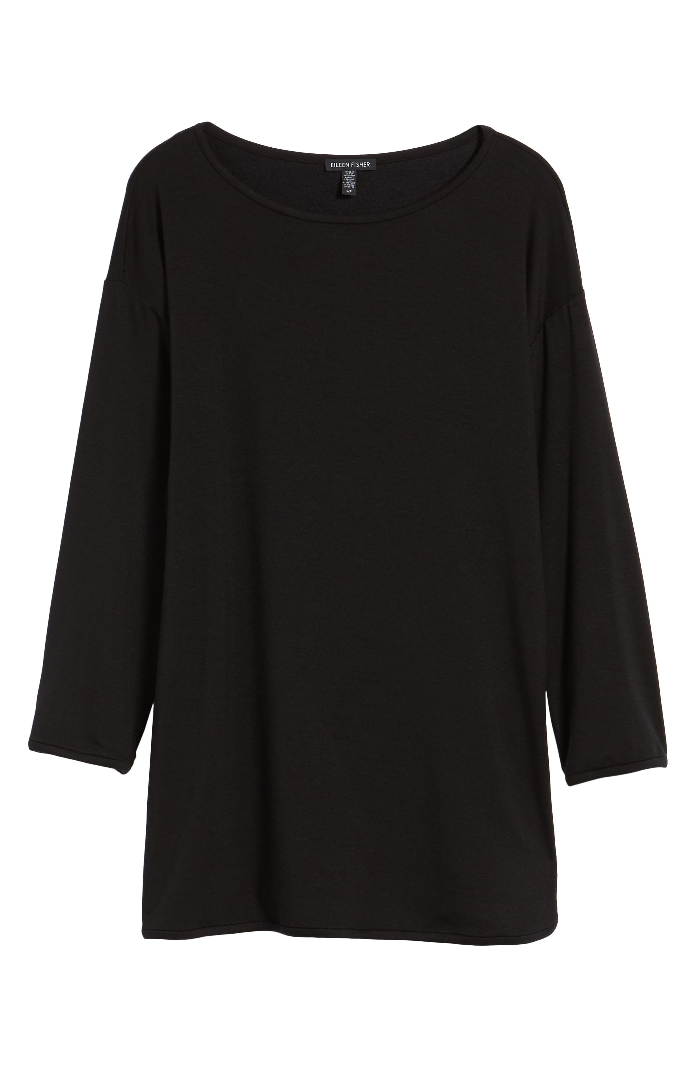 Stretch Tencel<sup>®</sup> Knit Top,                             Alternate thumbnail 6, color,                             001