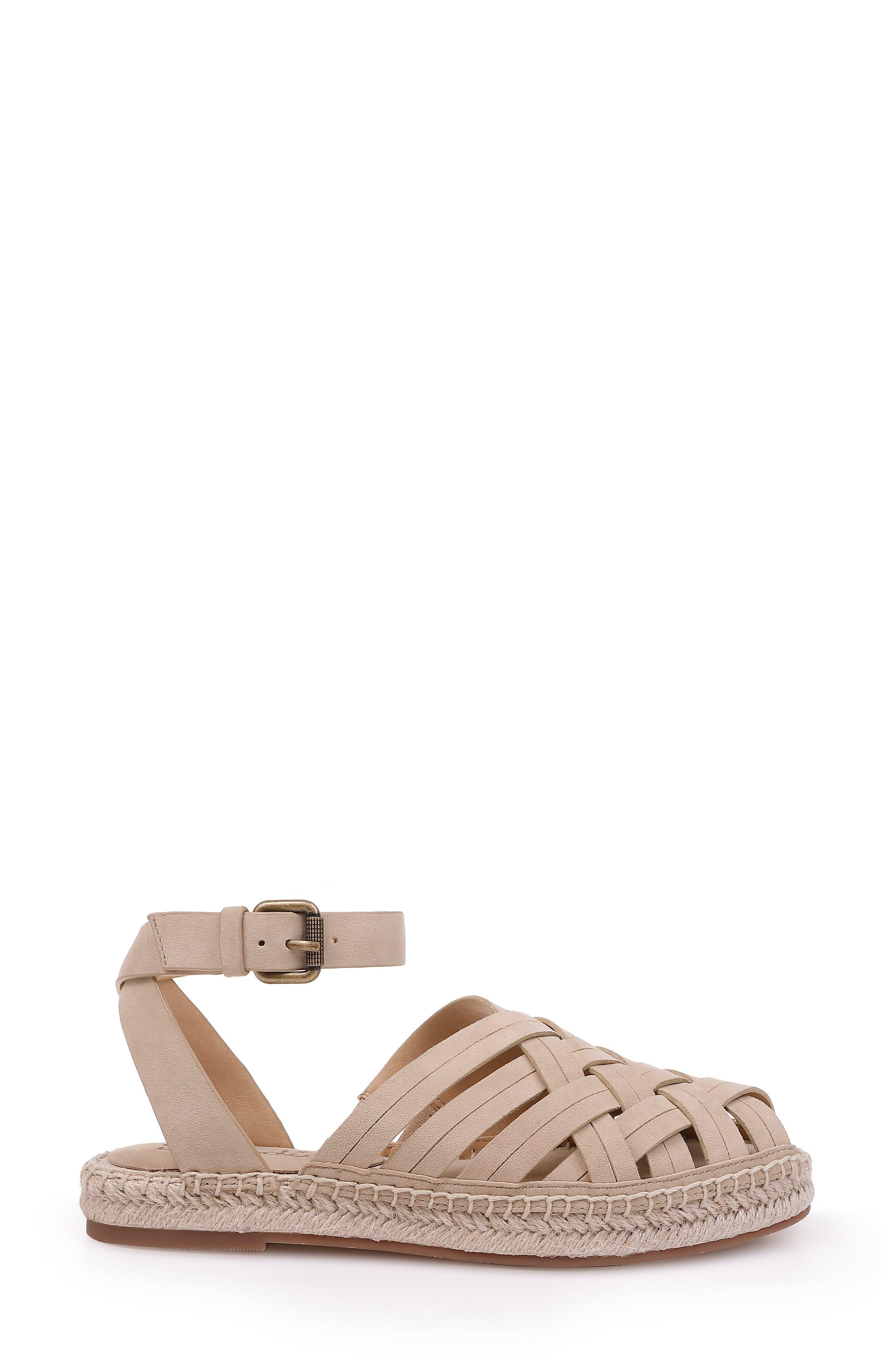 Sheryl Espadrille Ankle Strap Sandal,                             Alternate thumbnail 3, color,                             MUSHROOM SUEDE