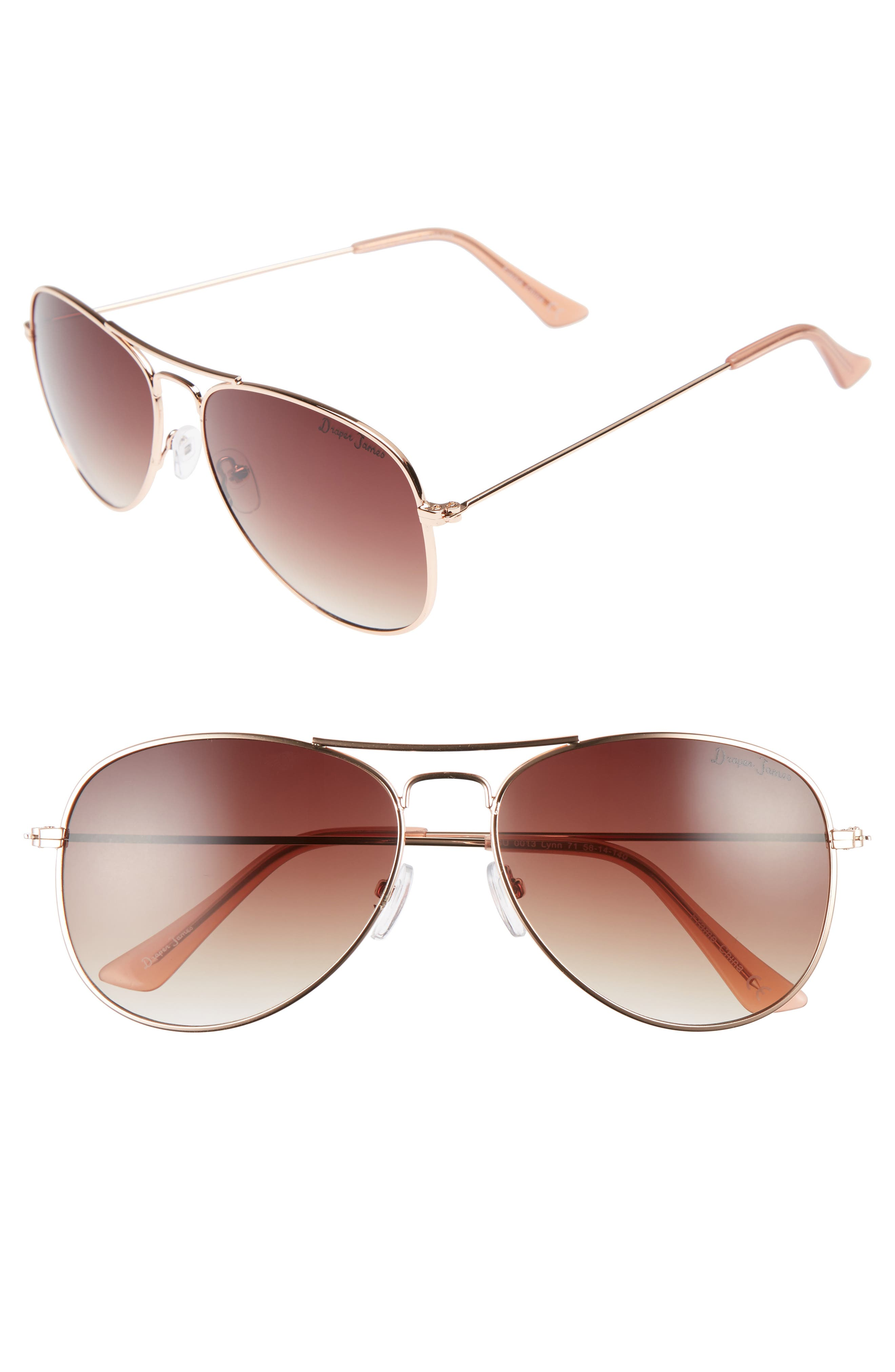 58mm Gradient Aviator Sunglasses,                             Main thumbnail 2, color,