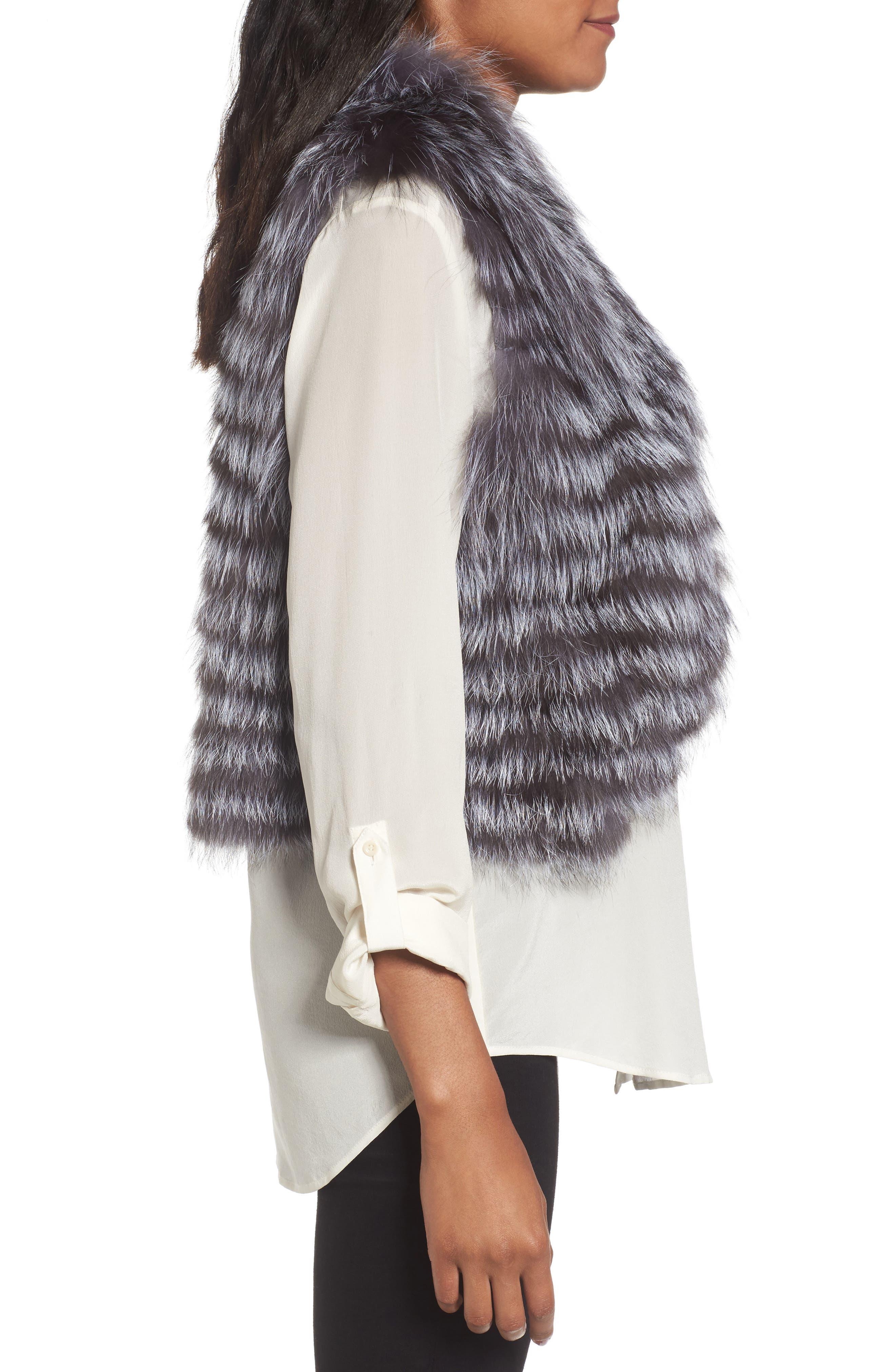 Genuine Fox Fur Vest,                             Alternate thumbnail 3, color,                             045