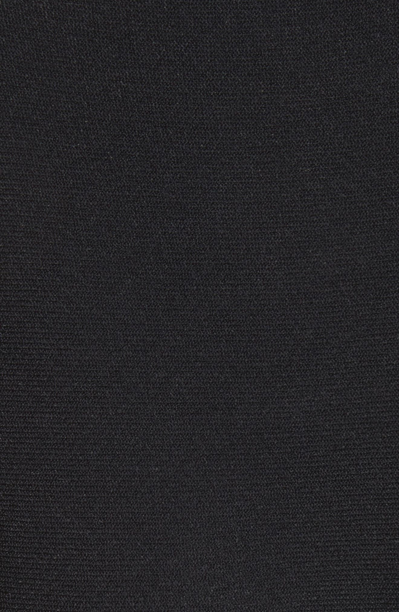 Lace Side Contrast Shift Dress,                             Alternate thumbnail 6, color,                             IVORY/ BLACK