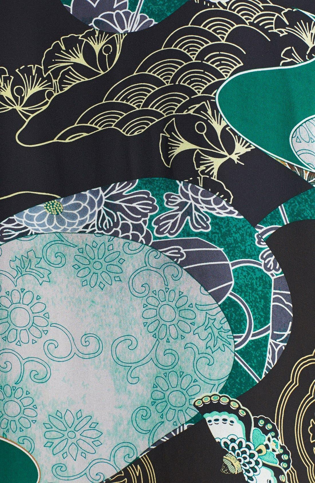 Print Silk Kimono Jacket,                             Alternate thumbnail 2, color,                             310