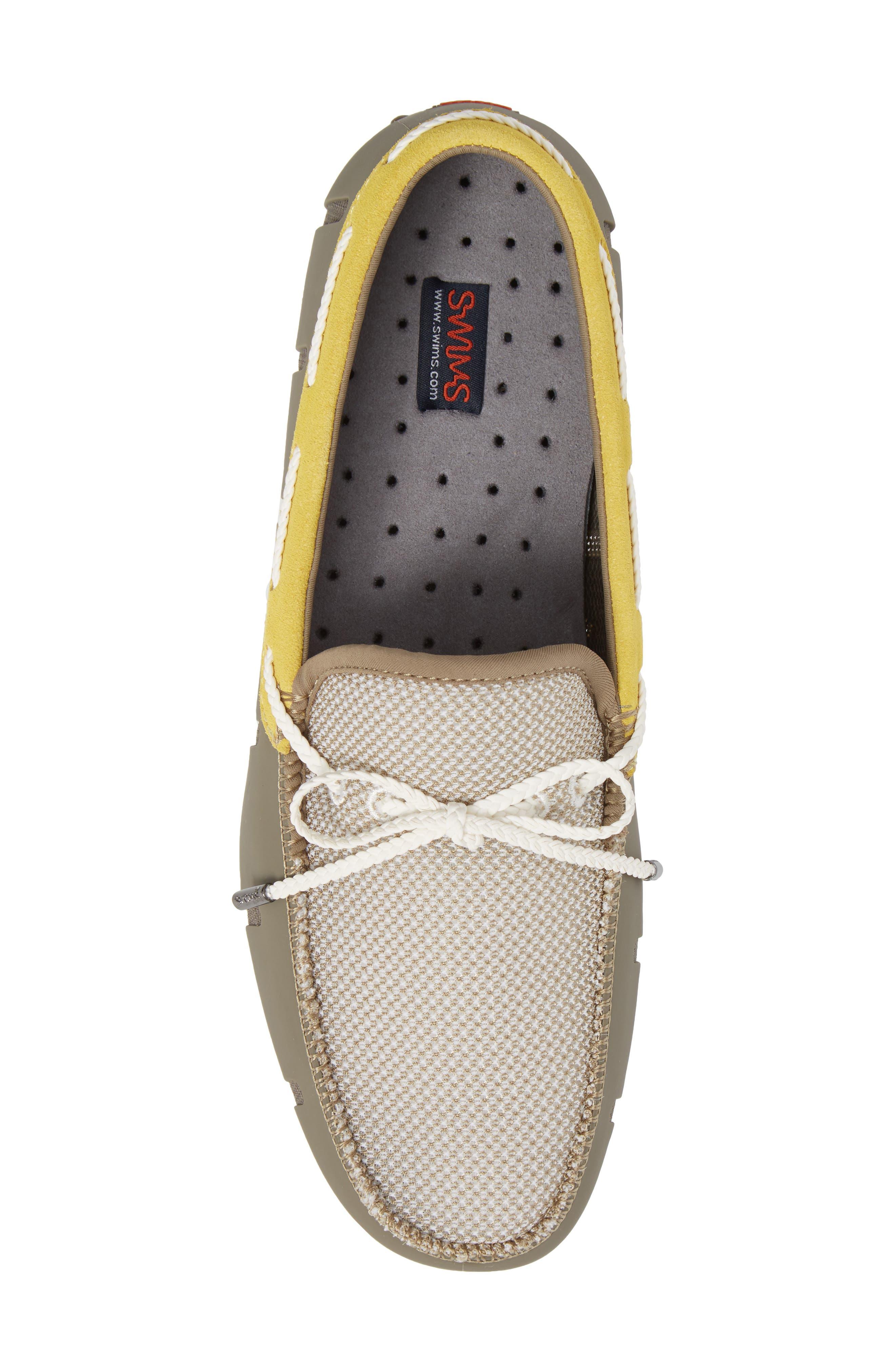 Driving Shoe,                             Alternate thumbnail 5, color,                             KHAKI/ FADED LEMON/ WHITE