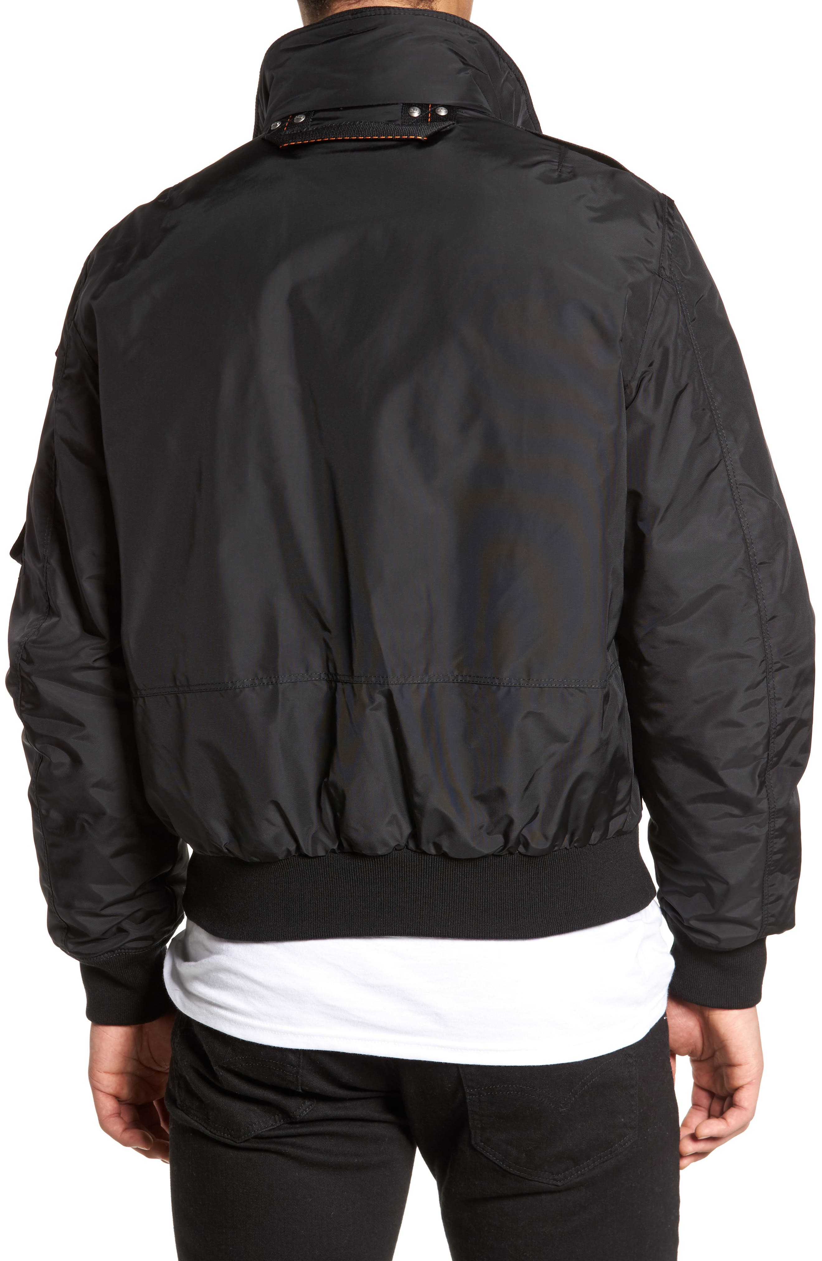 Masterpiece Slim Fit Midweight Down Bomber Jacket,                             Alternate thumbnail 2, color,                             001