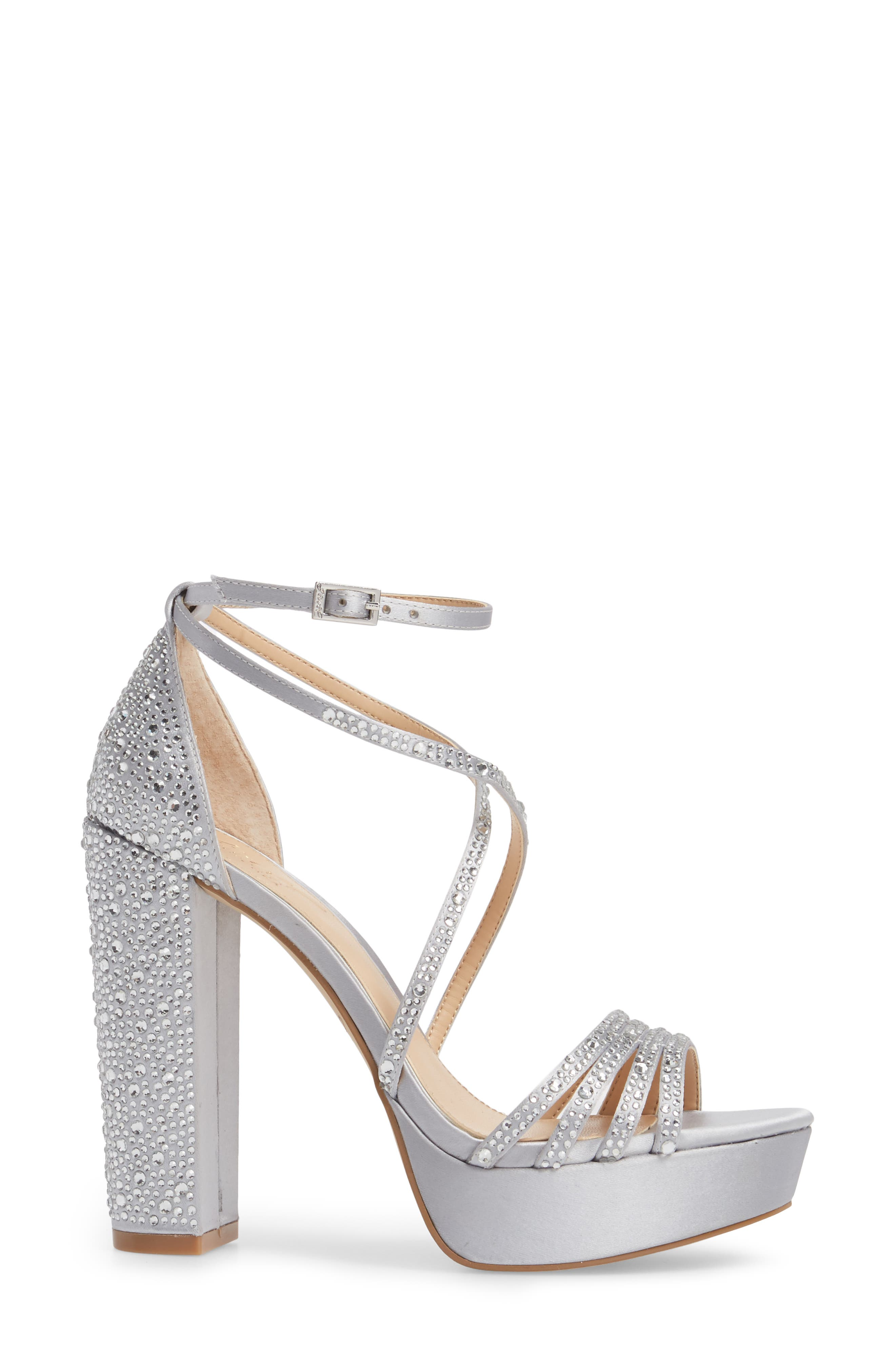 Tarah Crystal Embellished Platform Sandal,                             Alternate thumbnail 8, color,