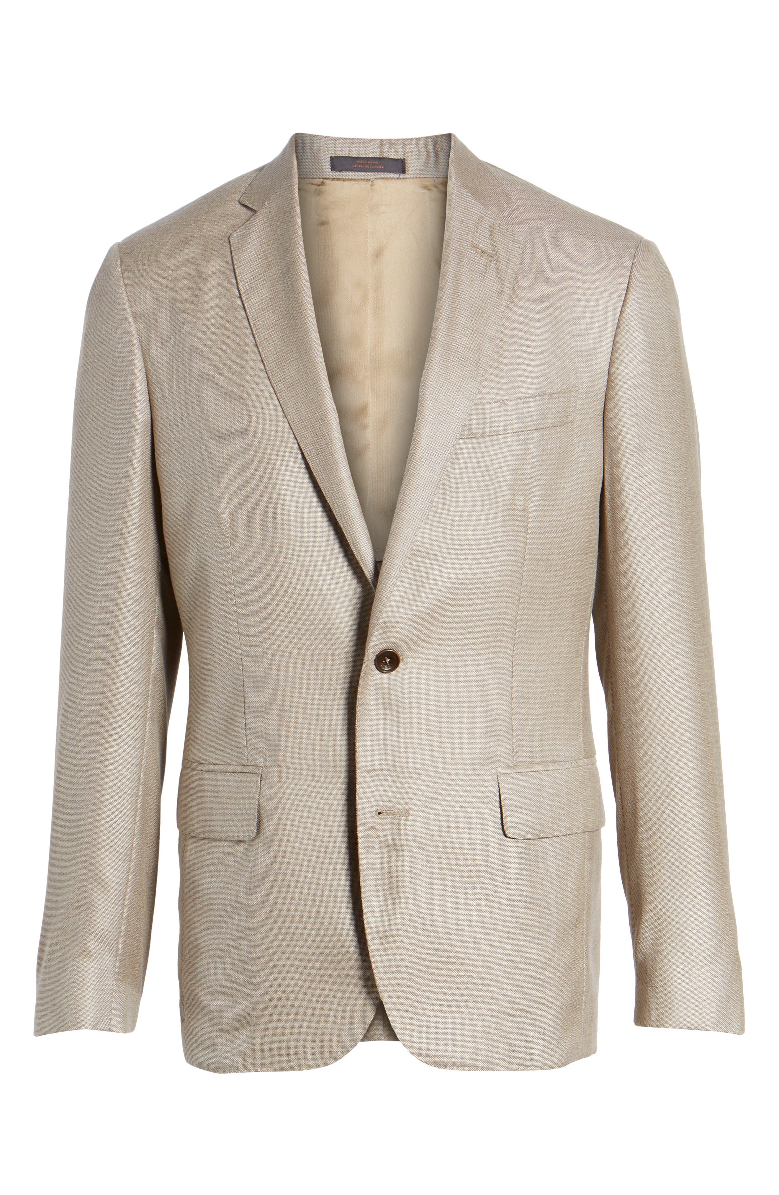 Trim Fit Cashmere & Silk Blazer,                             Alternate thumbnail 18, color,