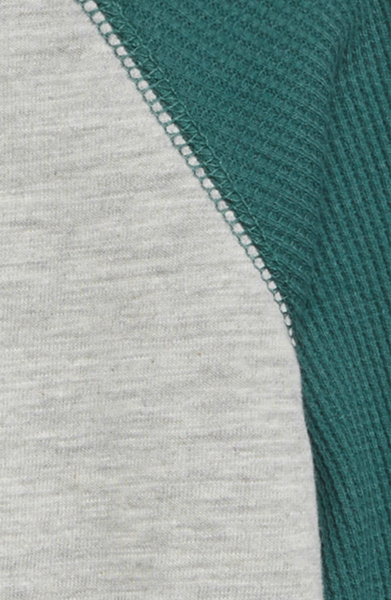 Mixed Knit Raglan T-Shirt,                             Alternate thumbnail 2, color,                             GREEN