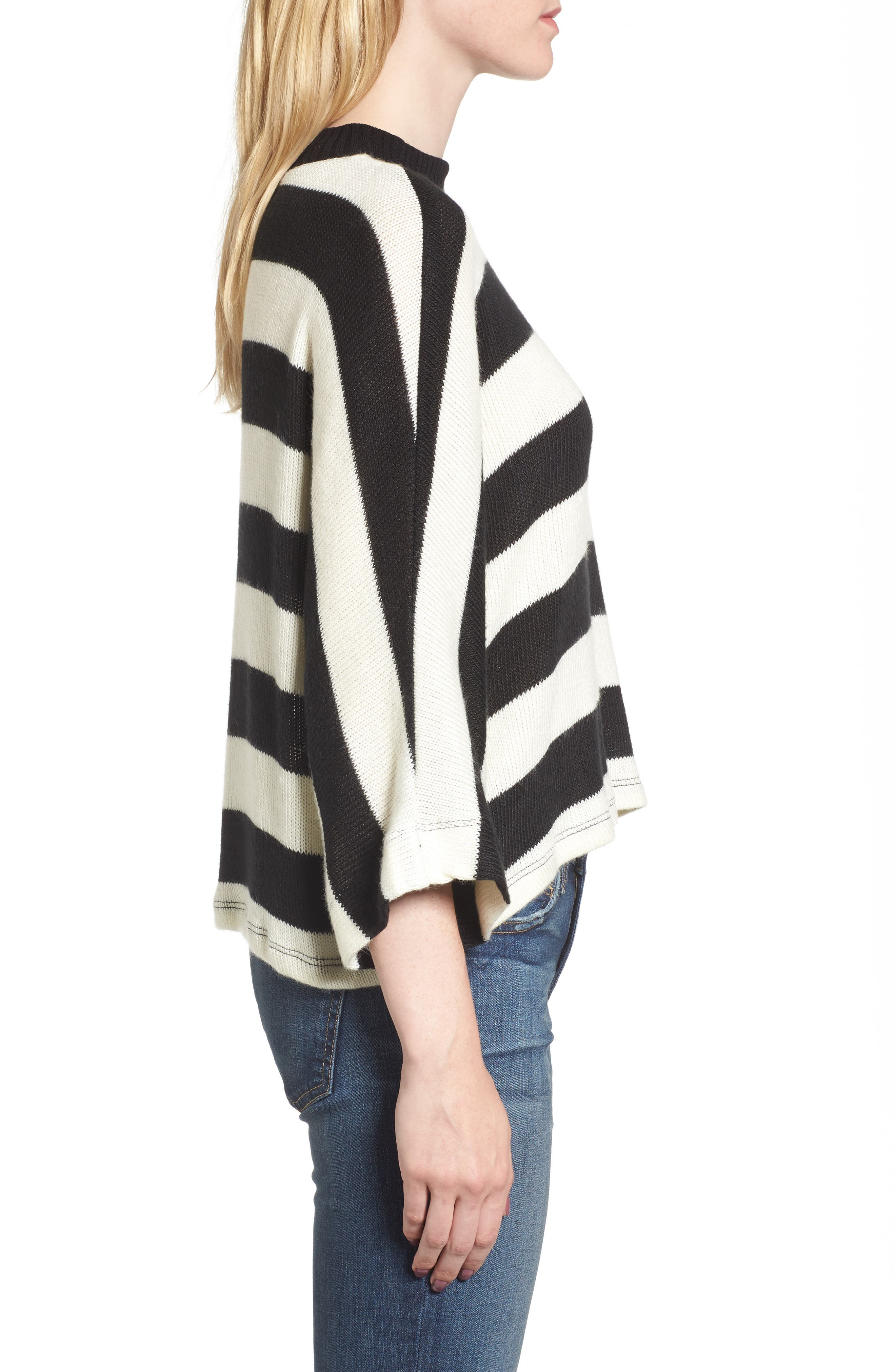 Kingston Stripe Sweater,                             Alternate thumbnail 3, color,                             001