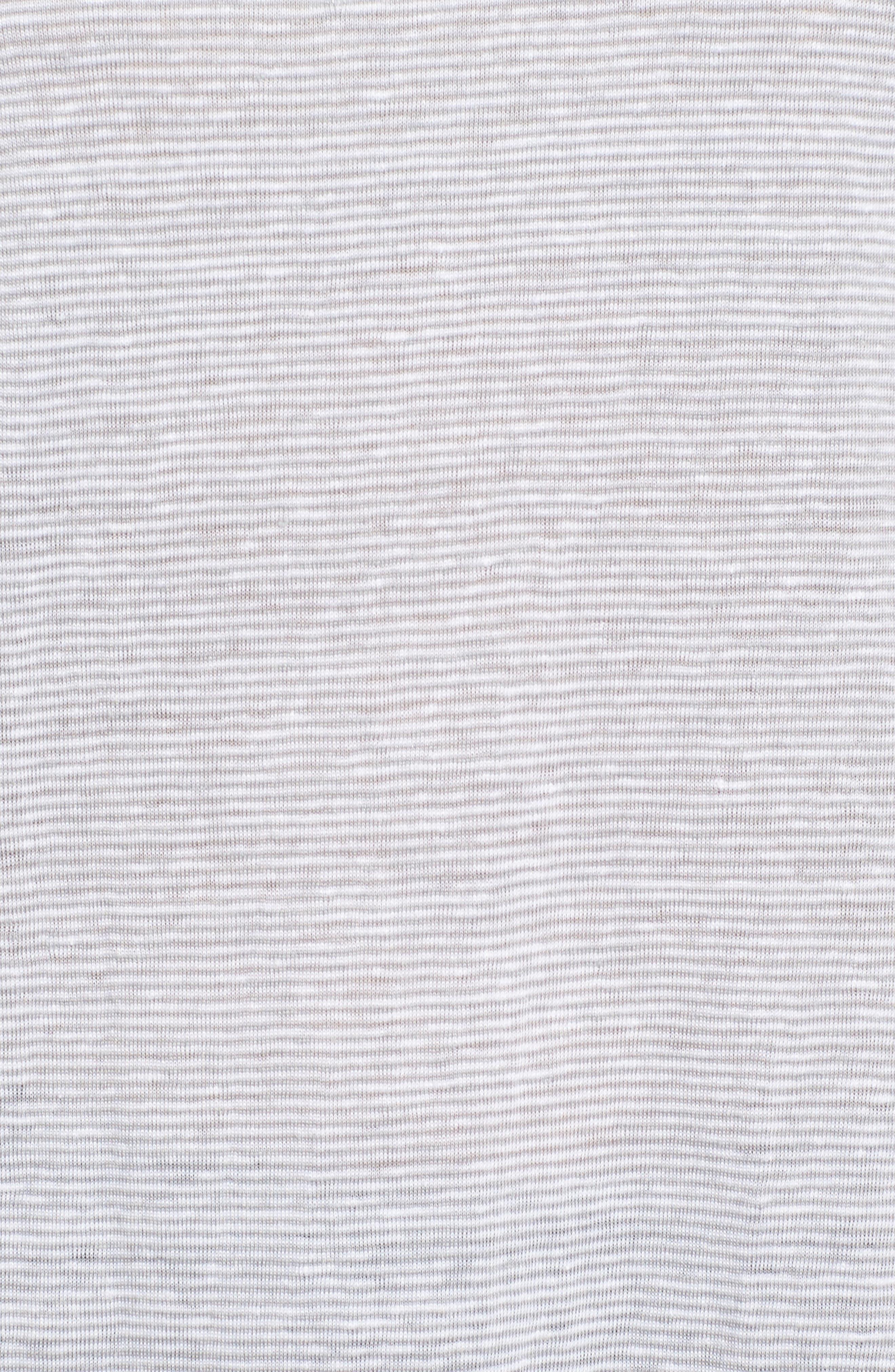 Organic Linen Bateau Neck Top,                             Alternate thumbnail 5, color,                             022