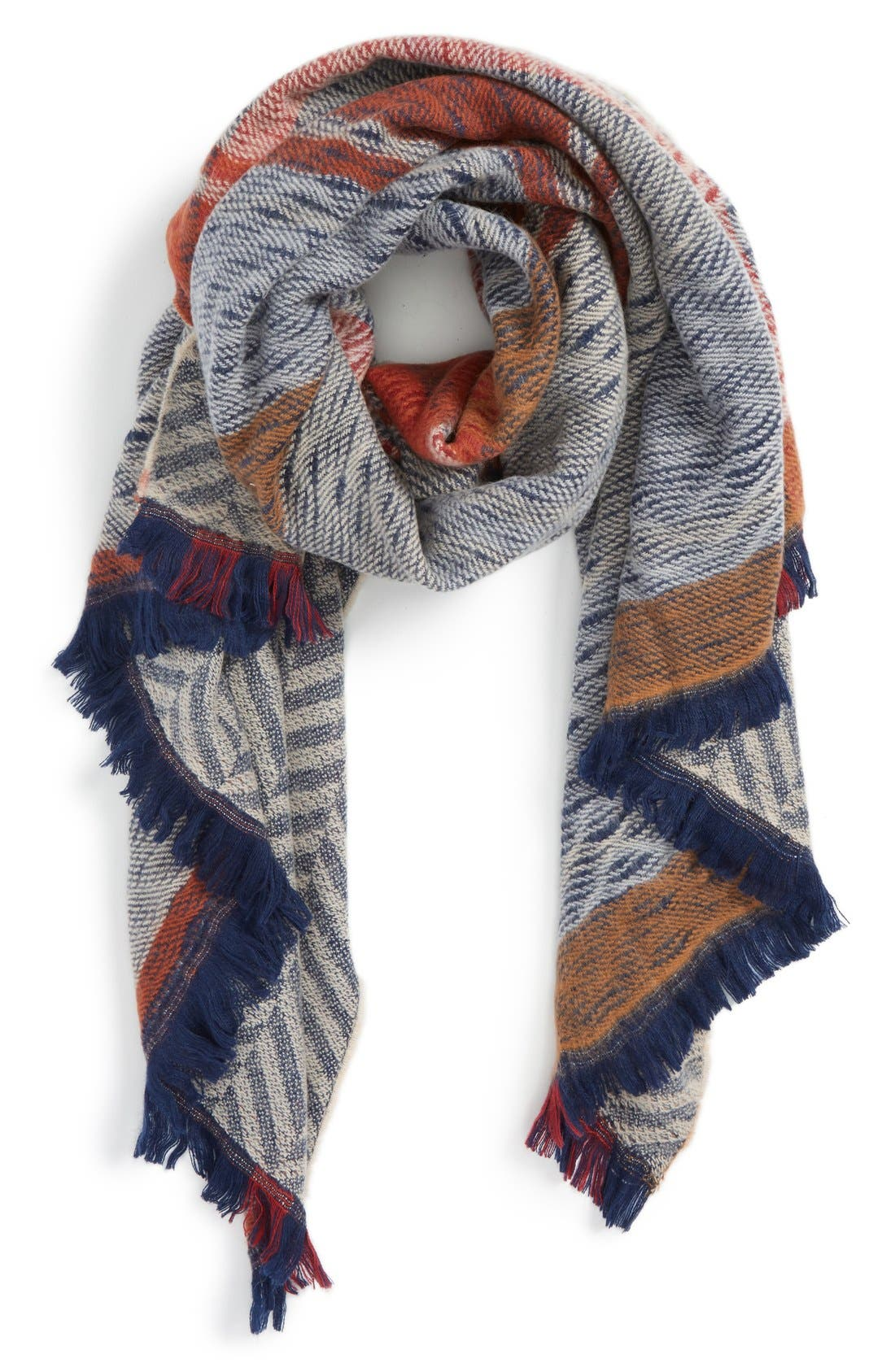 Reversible Blanket Scarf, Main, color, 400