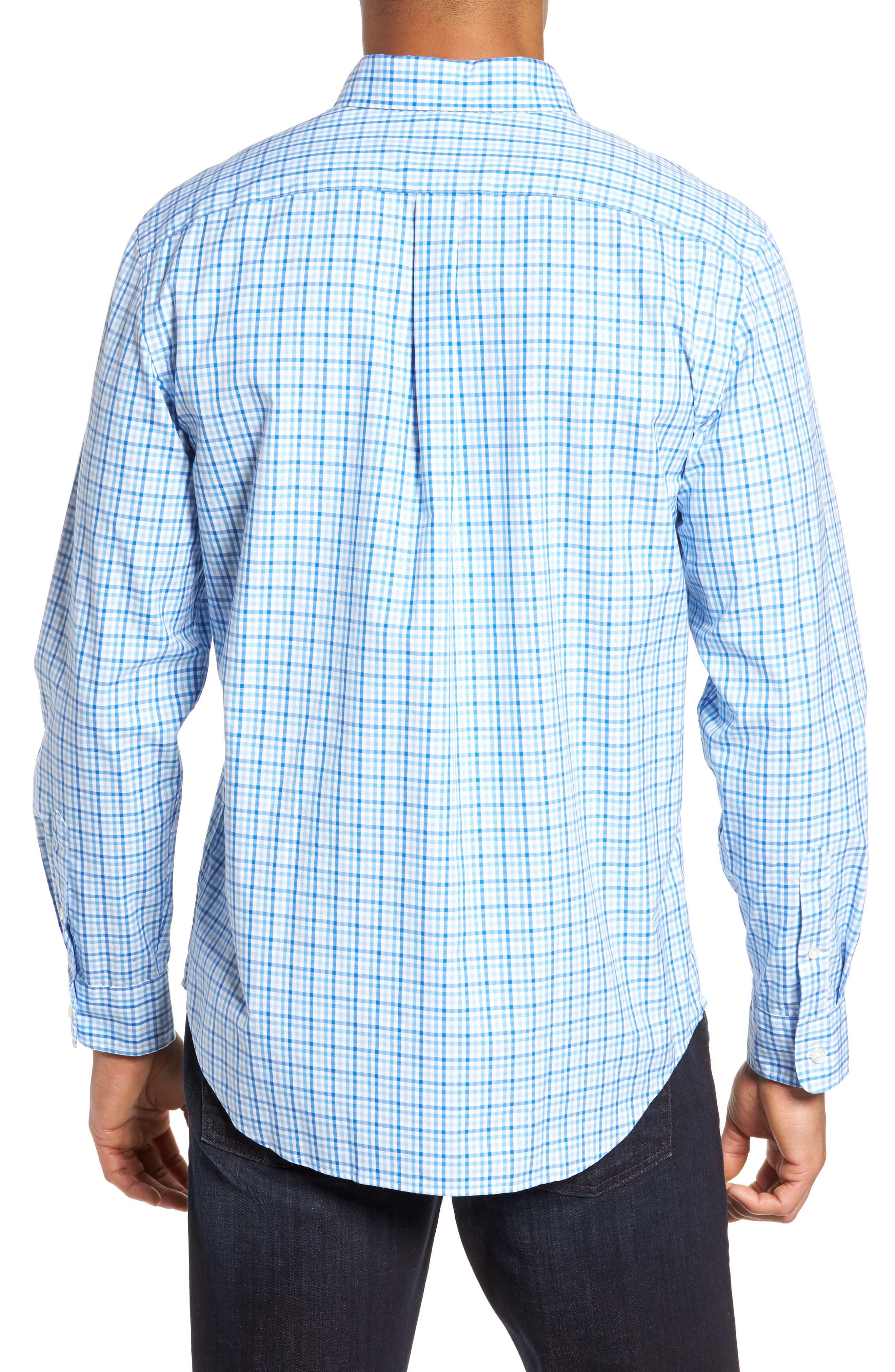 Munroe Tucker Classic Fit Gingham Sport Shirt,                             Alternate thumbnail 2, color,                             456