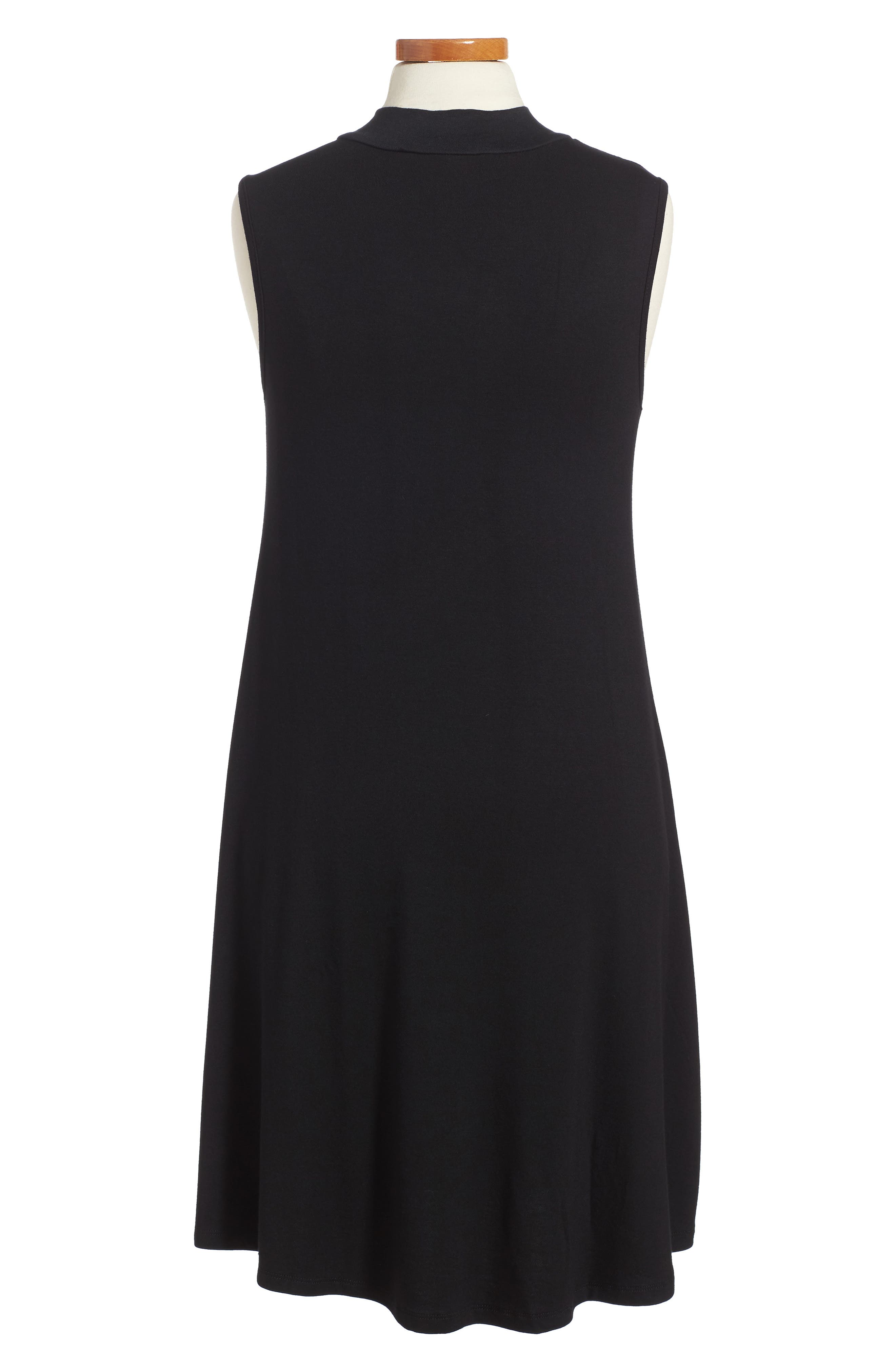 Phyllis Stripe Mock Neck Dress,                             Alternate thumbnail 4, color,