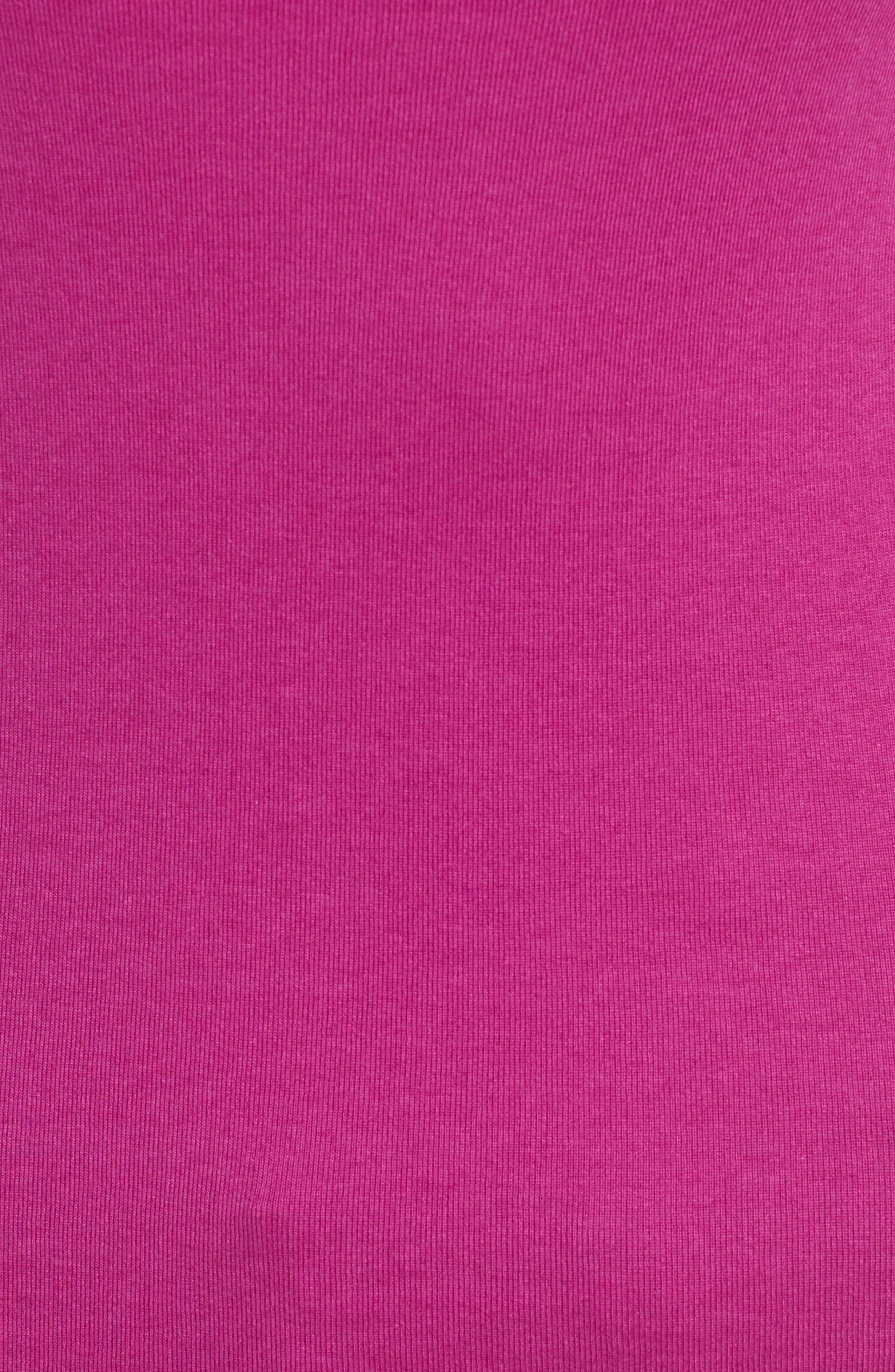 Ballet Neck Cotton & Modal Knit Elbow Sleeve Tee,                             Alternate thumbnail 291, color,
