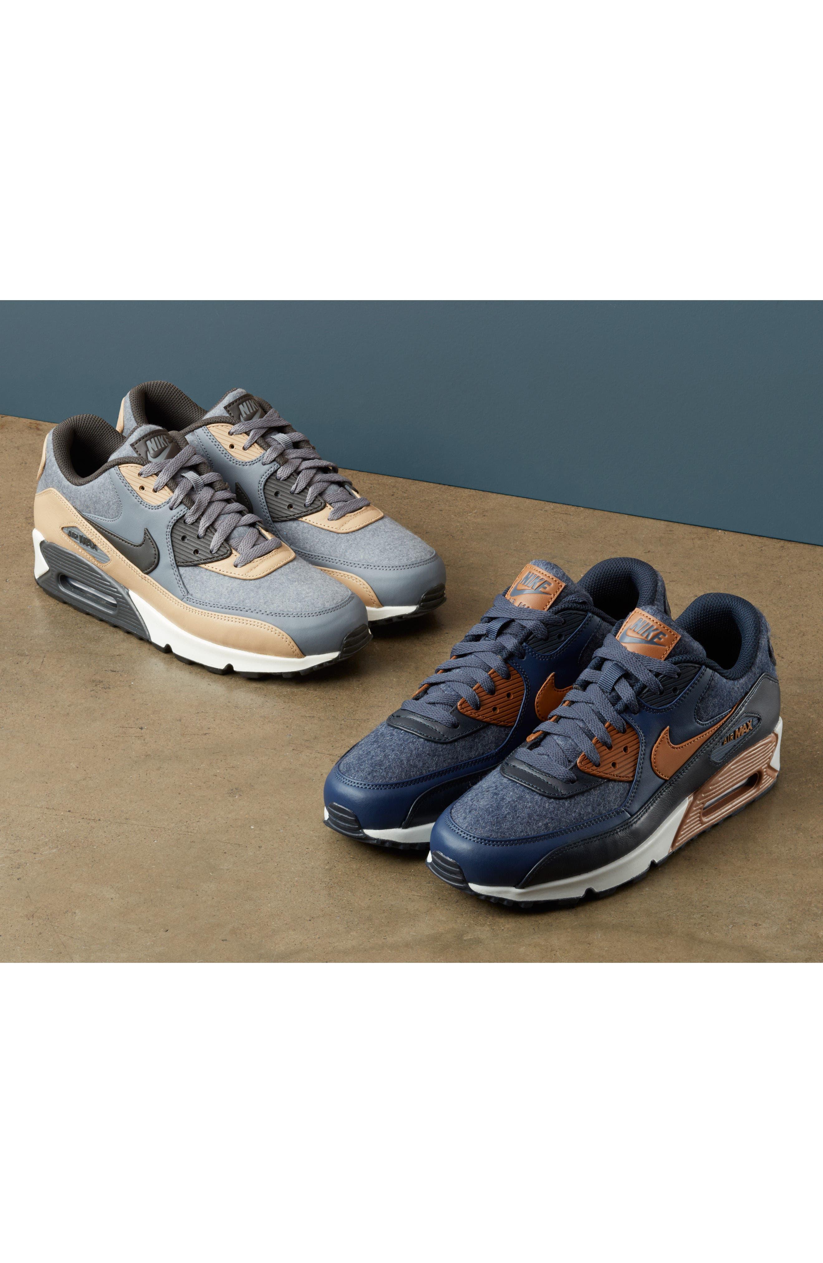 Air Max 90 Premium Sneaker,                             Alternate thumbnail 8, color,                             012