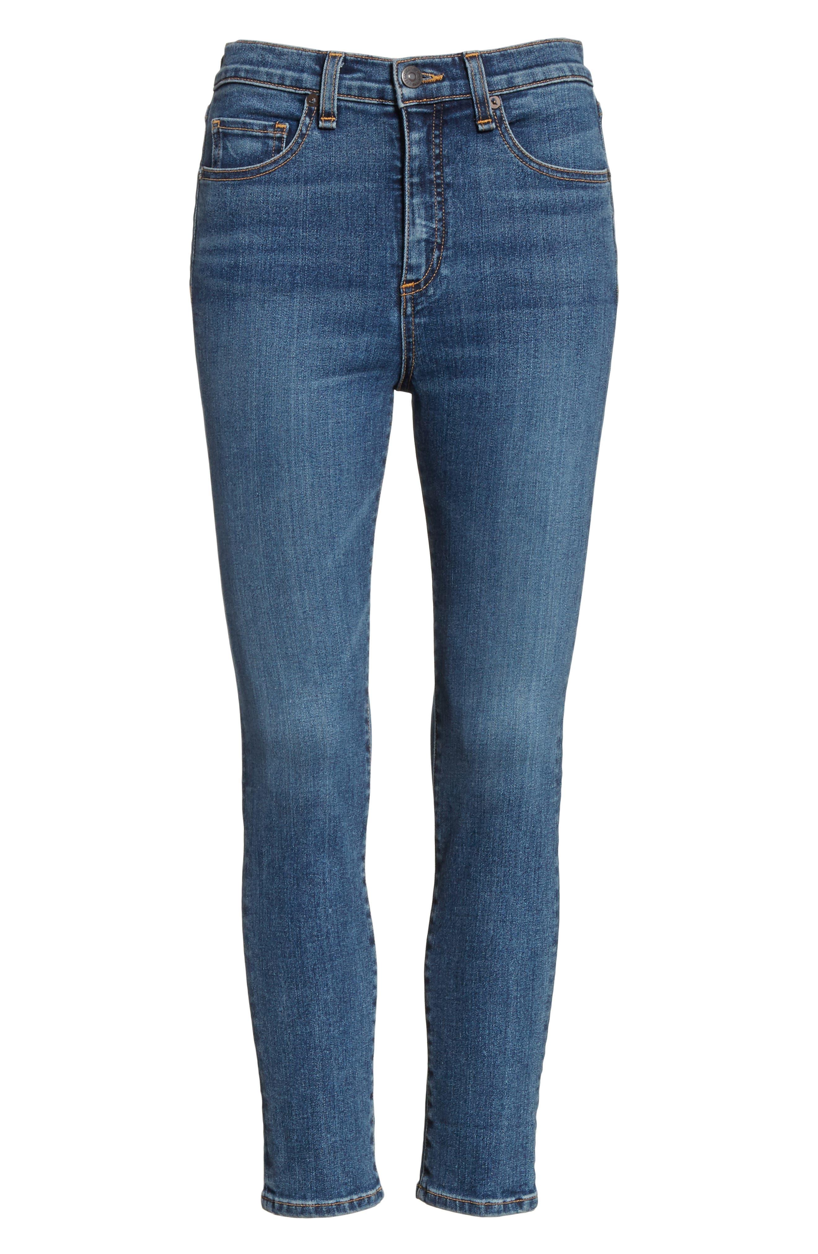Kate Crop Skinny Jeans,                             Alternate thumbnail 6, color,                             400