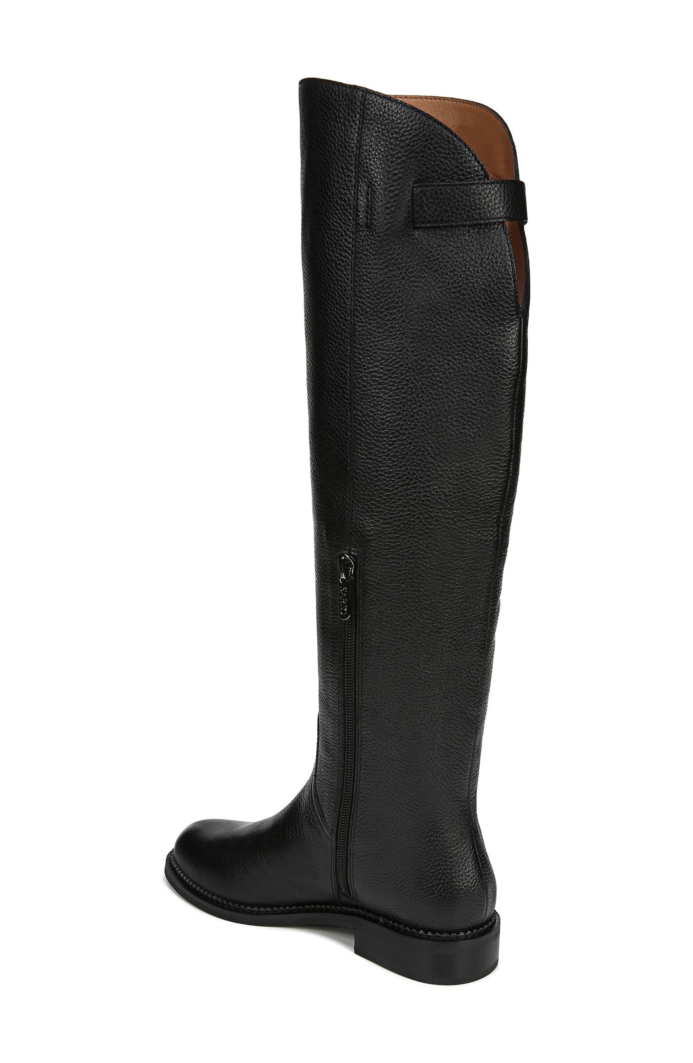 Halloway Knee High Boot,                             Alternate thumbnail 2, color,                             BLACK LEATHER
