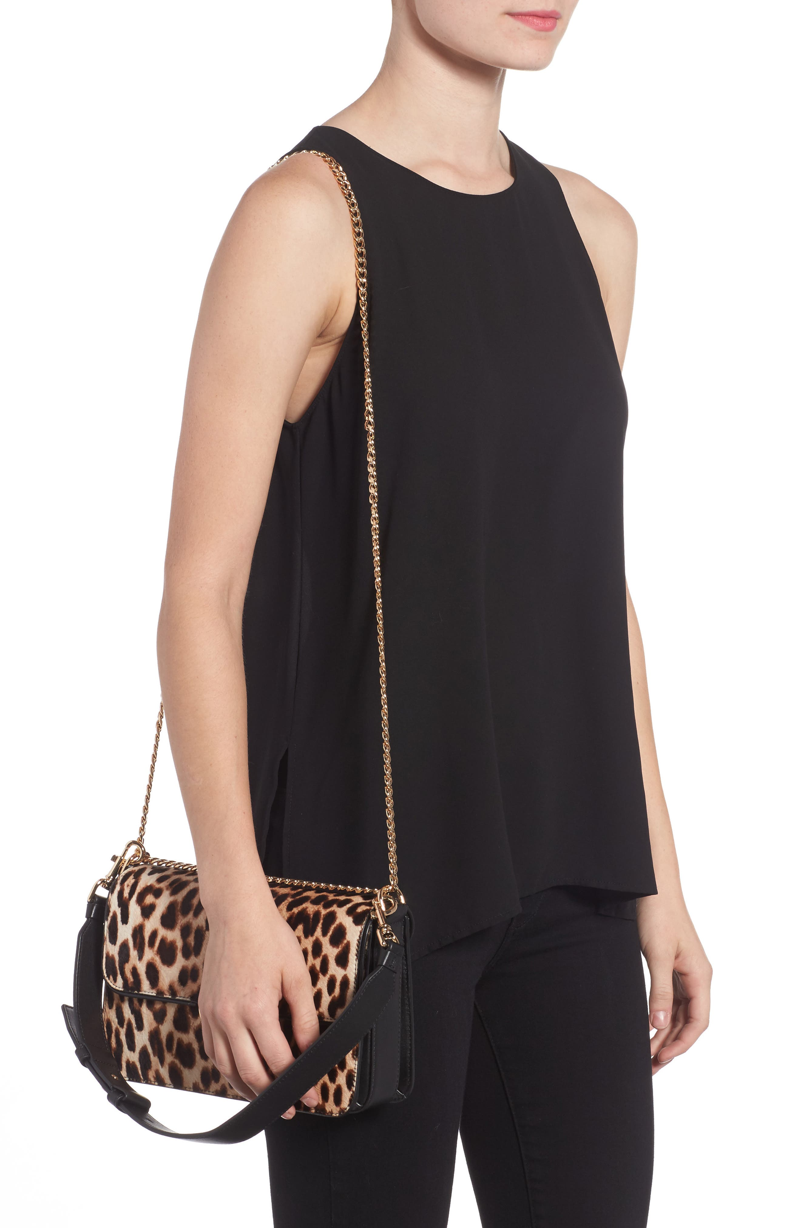 Chelsea Genuine Calf Hair Shoulder Bag,                             Alternate thumbnail 2, color,