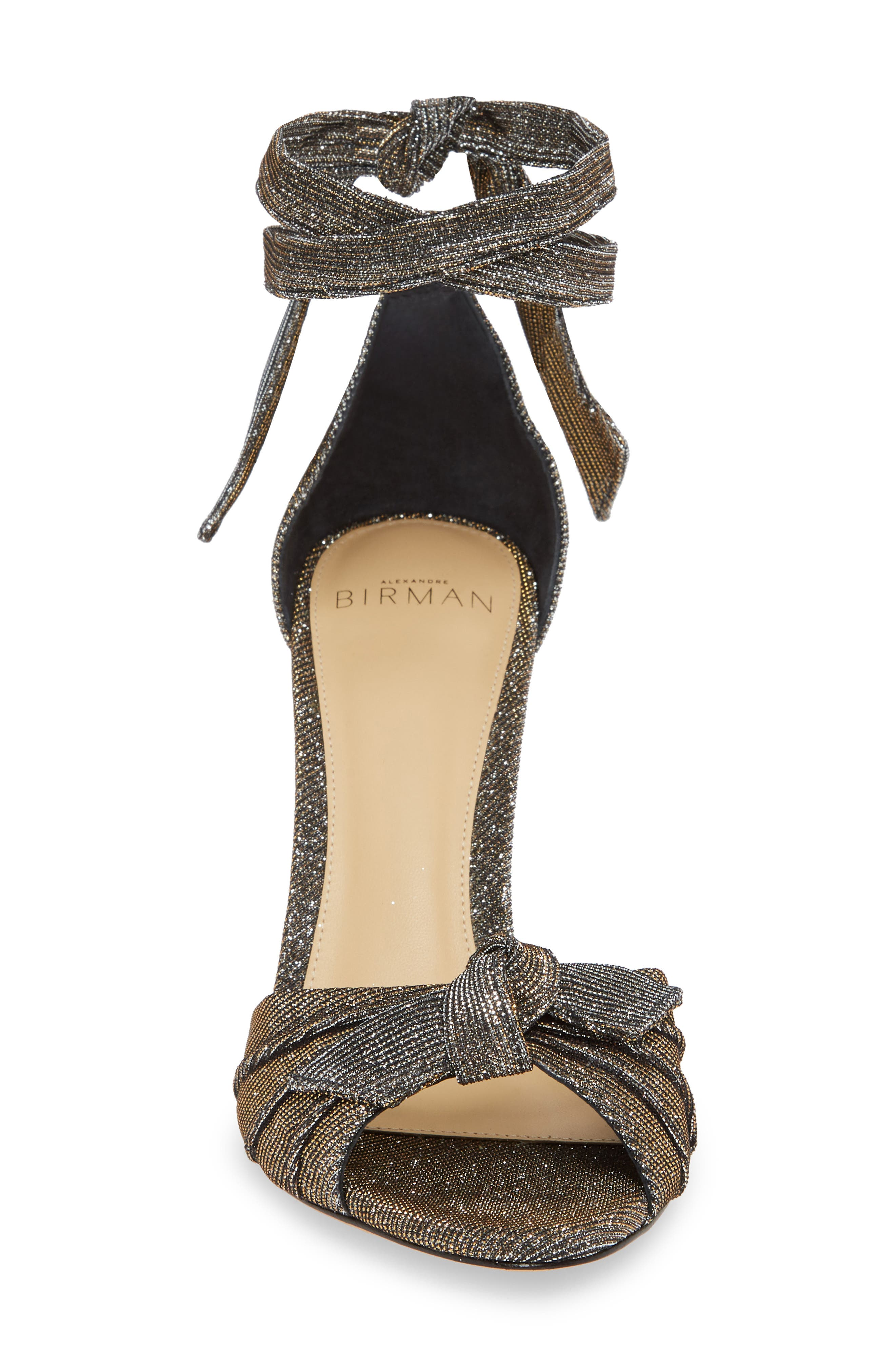 Clarita Ankle Strap Sandal,                             Alternate thumbnail 4, color,                             SILVER