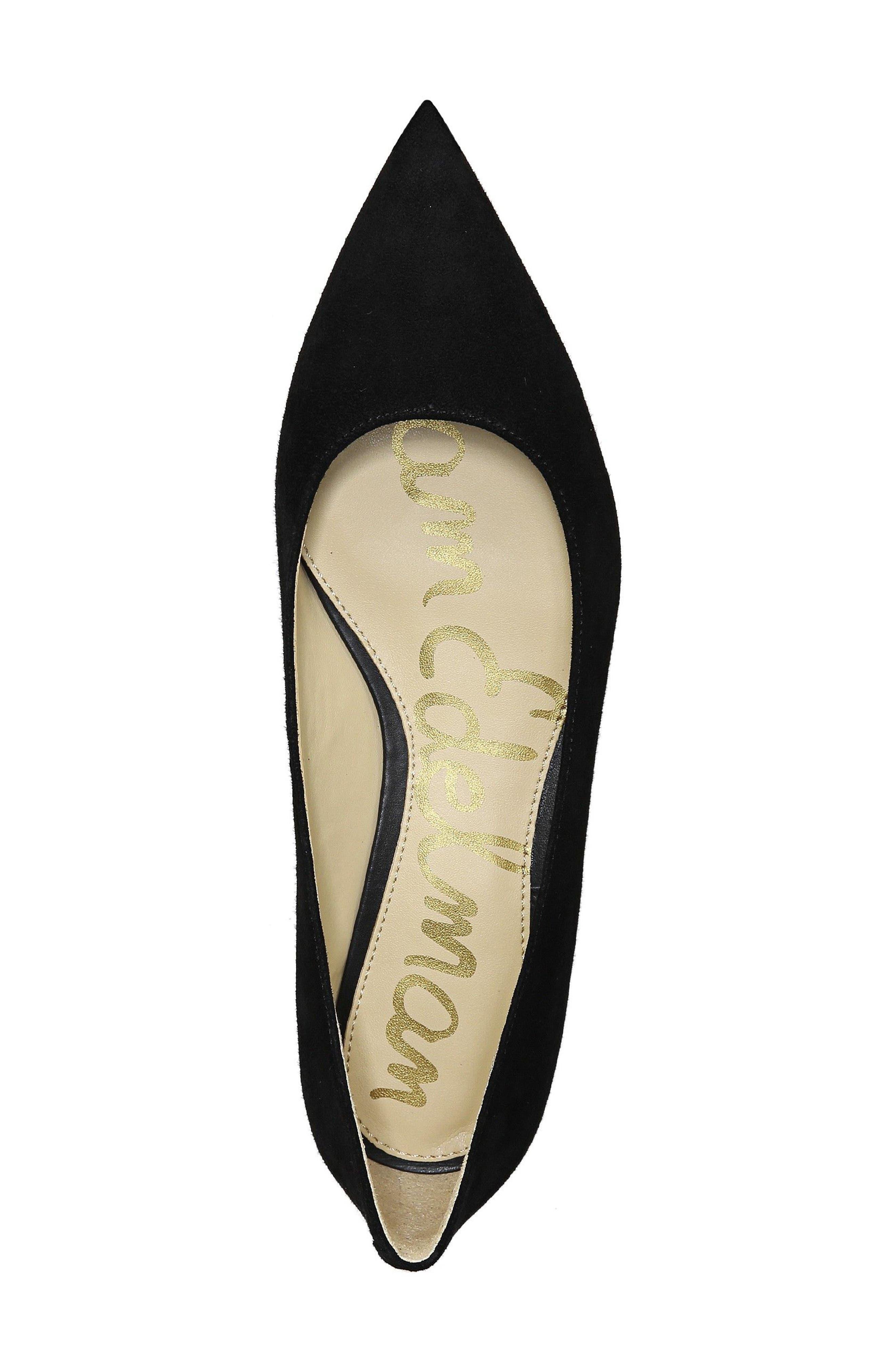 'Rae' Pointy Toe Ballet Flat,                             Alternate thumbnail 5, color,                             001