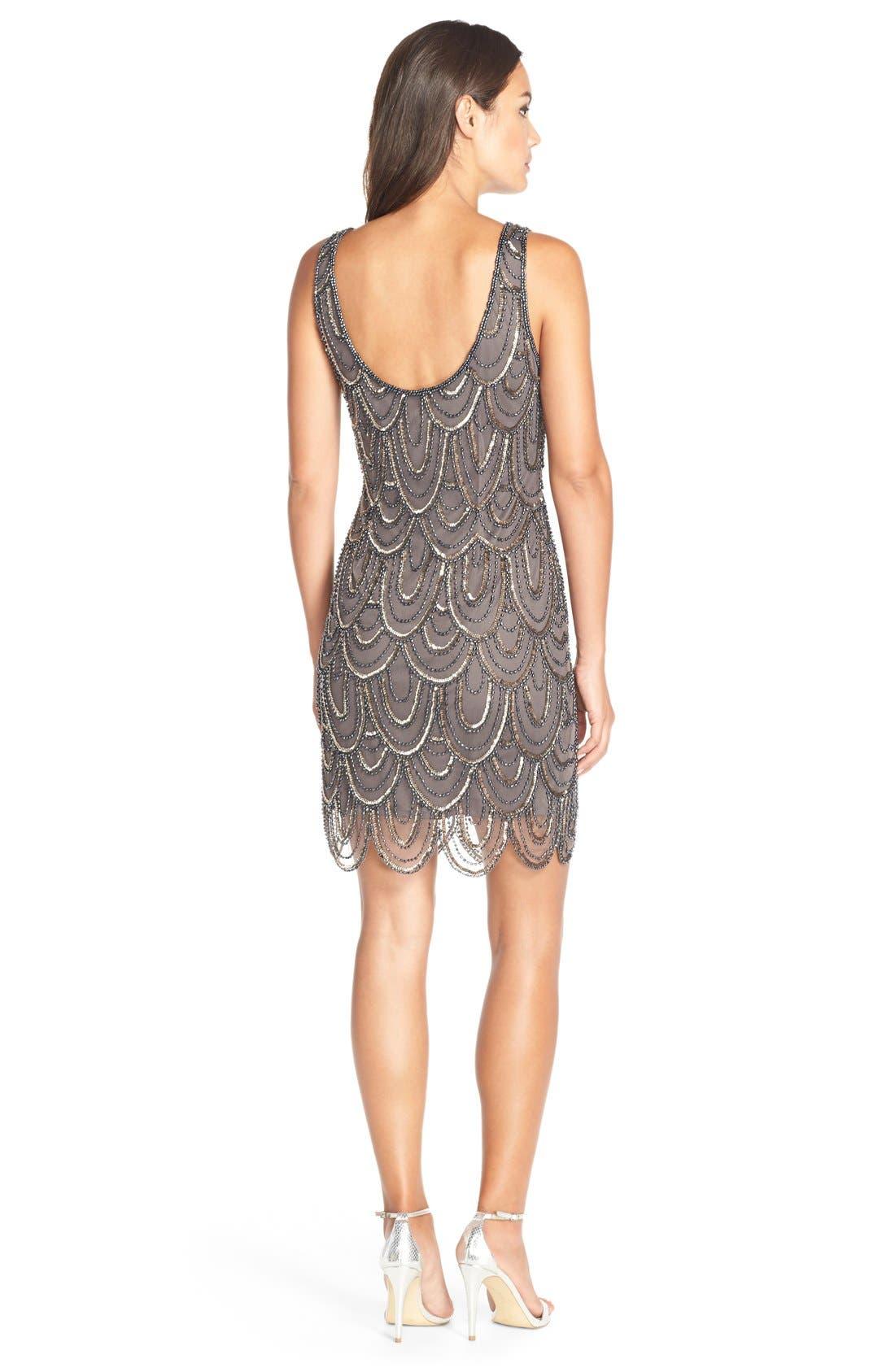 Embellished Mesh Sheath Dress,                             Alternate thumbnail 68, color,