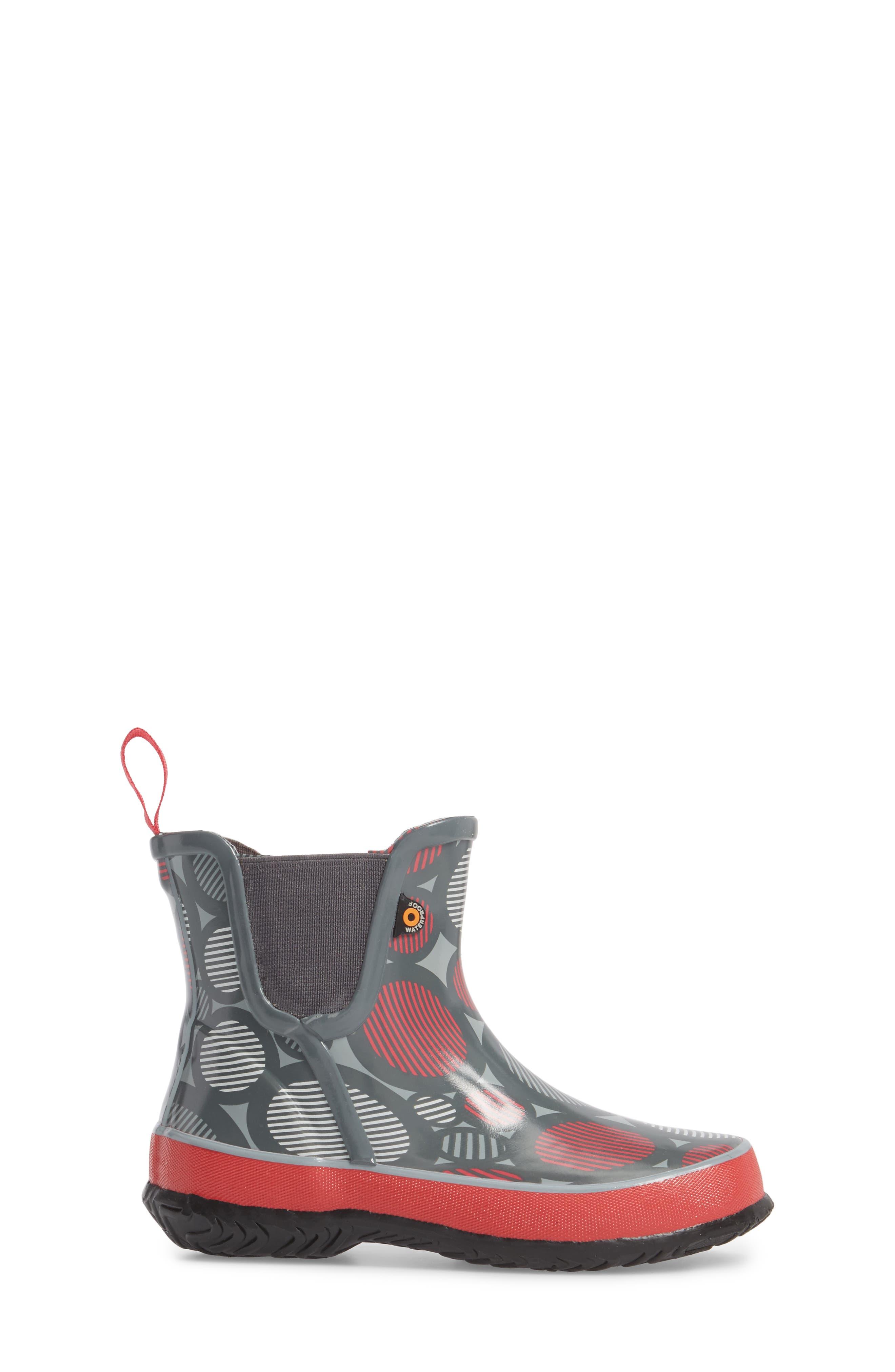 Amanda Multi Dot Waterproof Rain Boot,                             Alternate thumbnail 3, color,                             062