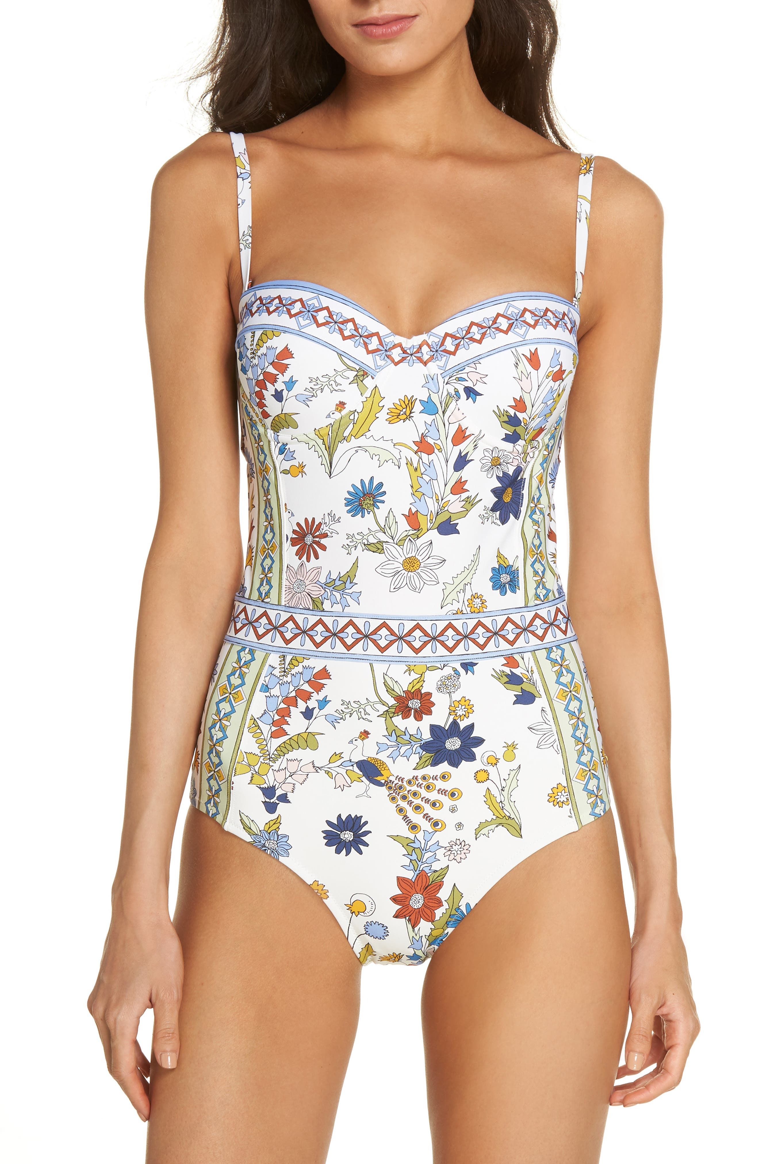Meadow Folly Underwire One-Piece Swimsuit,                             Alternate thumbnail 2, color,                             900