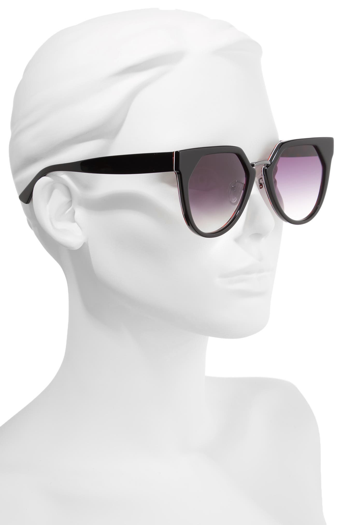 53mm Cat Eye Sunglasses,                             Alternate thumbnail 3, color,
