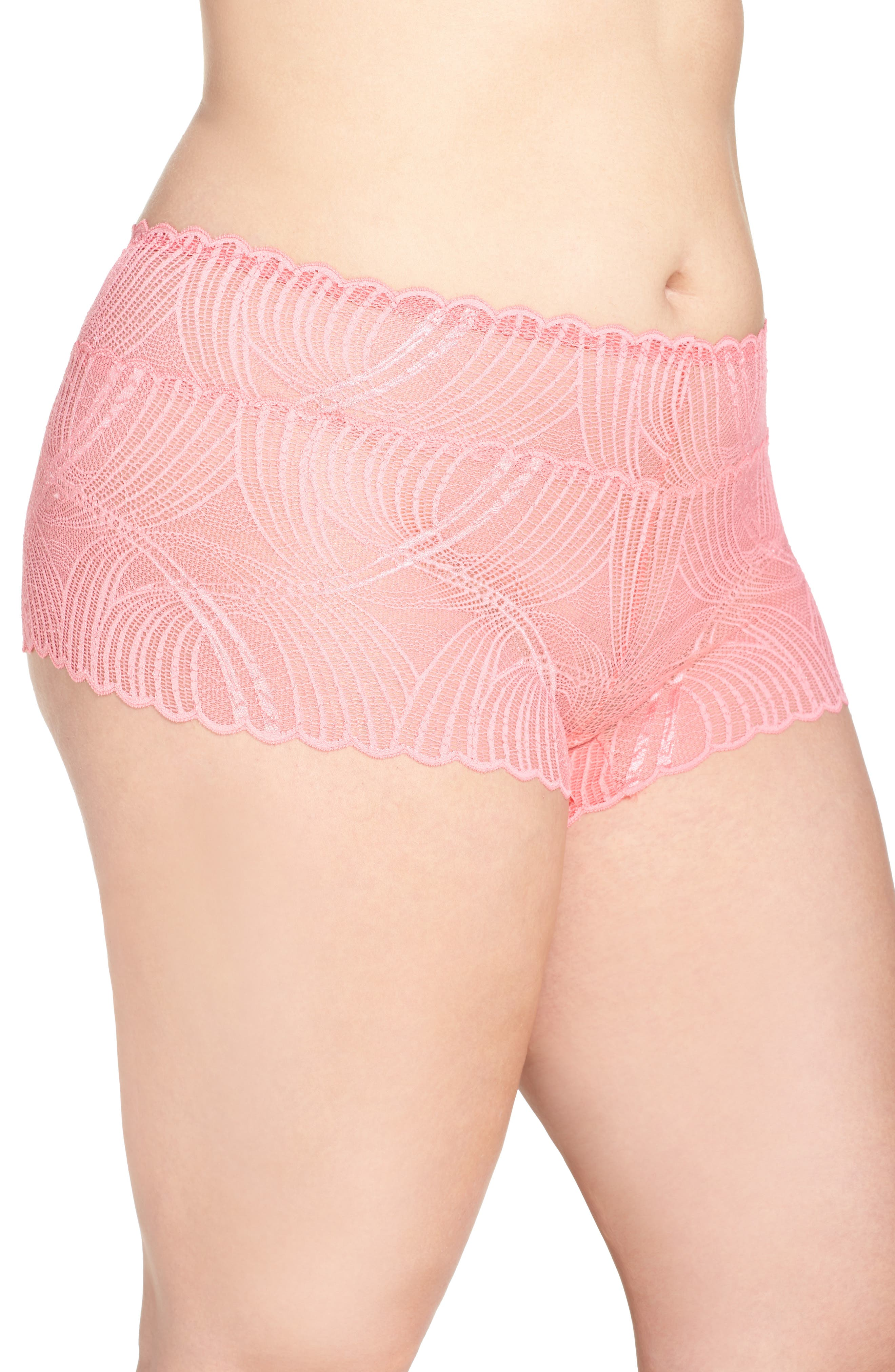 Minoa Naughtie Open Gusset Boyshorts,                             Alternate thumbnail 15, color,