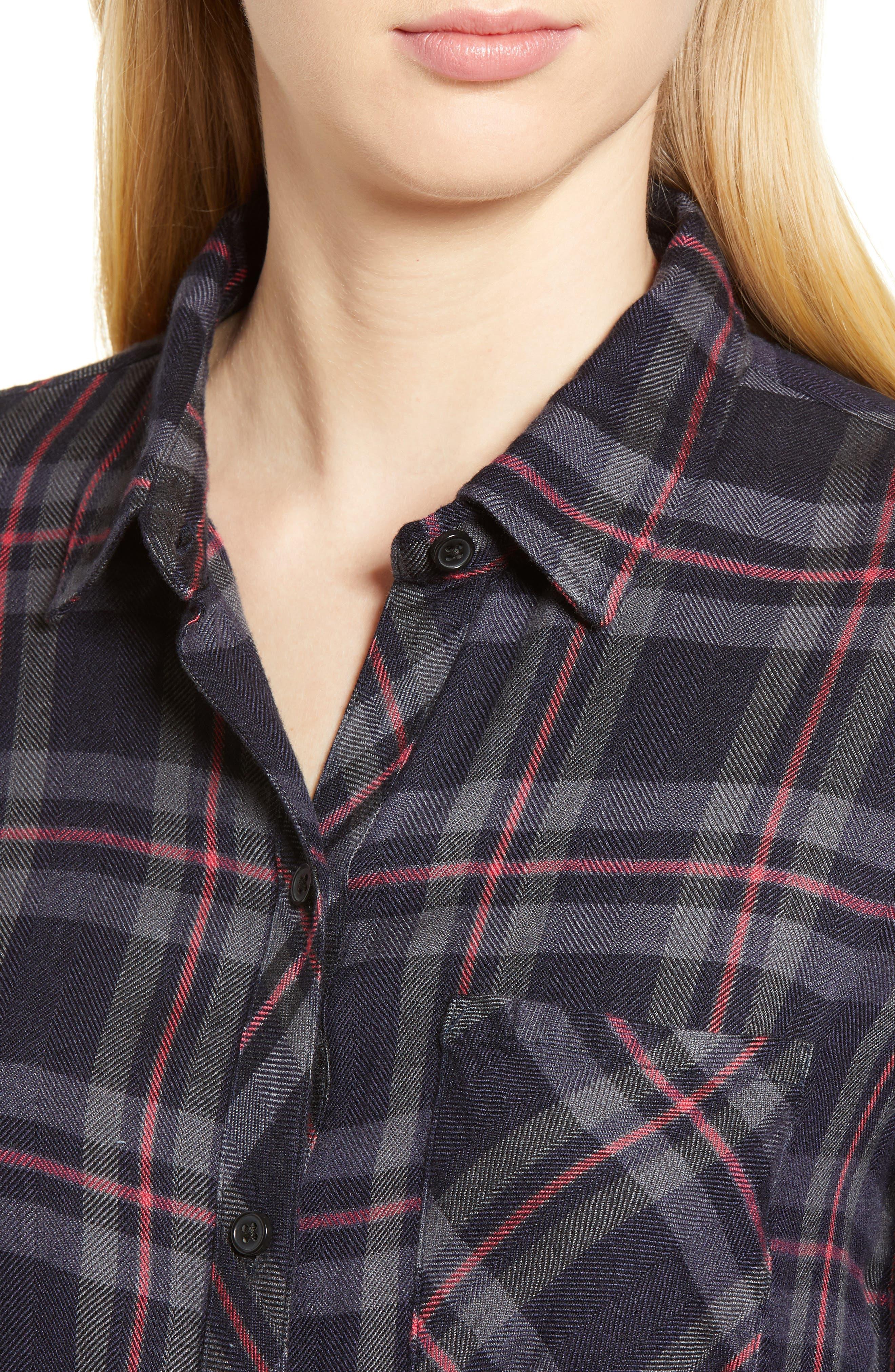 Hunter Plaid Shirt,                             Alternate thumbnail 433, color,