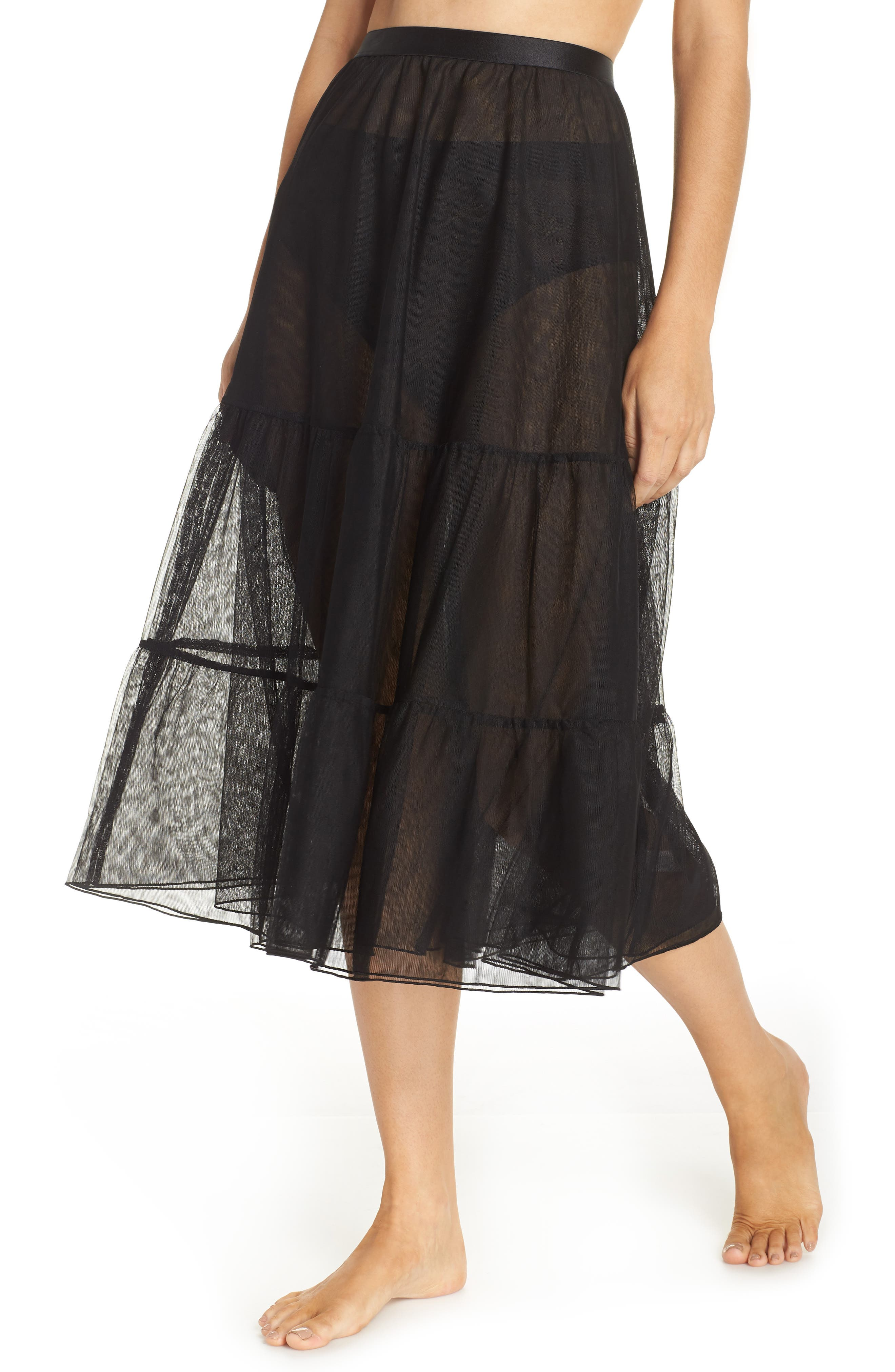 x Atlantic-Pacific Tulle Half Slip, Main, color, BLACK