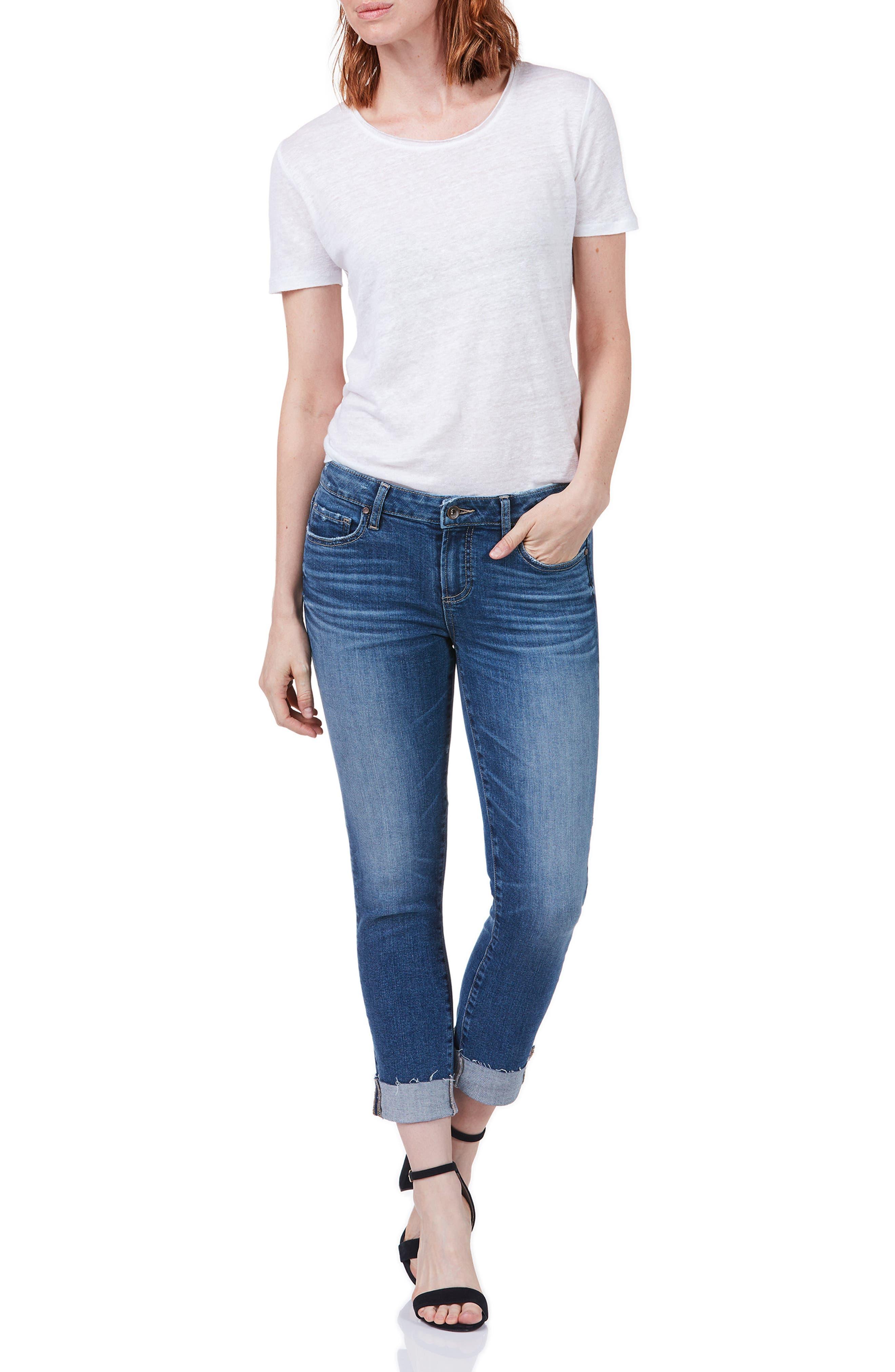 Transcend Vintage - Skyline Crop Skinny Jeans,                             Alternate thumbnail 4, color,                             PICO