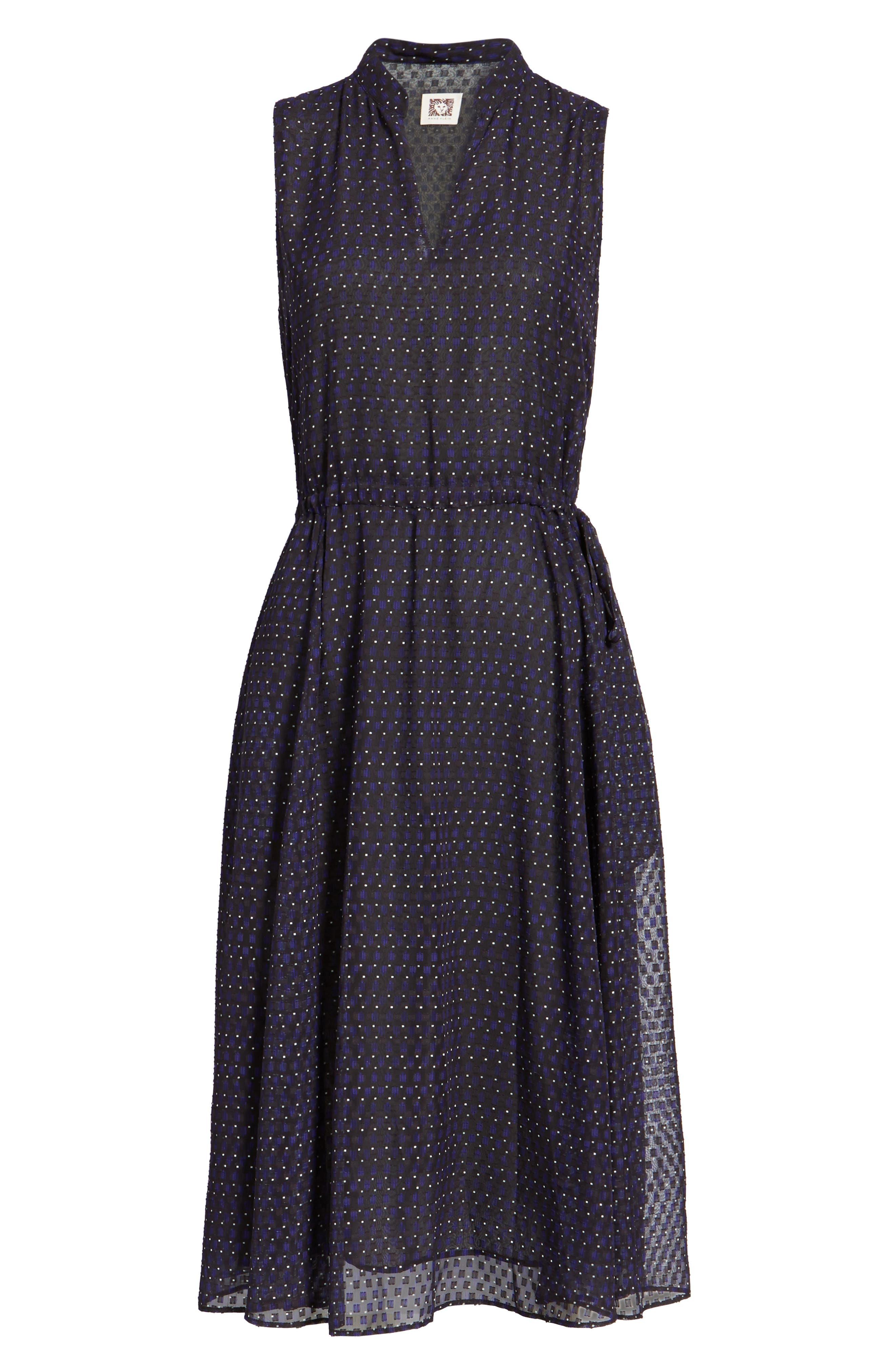 Print A-Line Dress,                             Alternate thumbnail 6, color,                             500