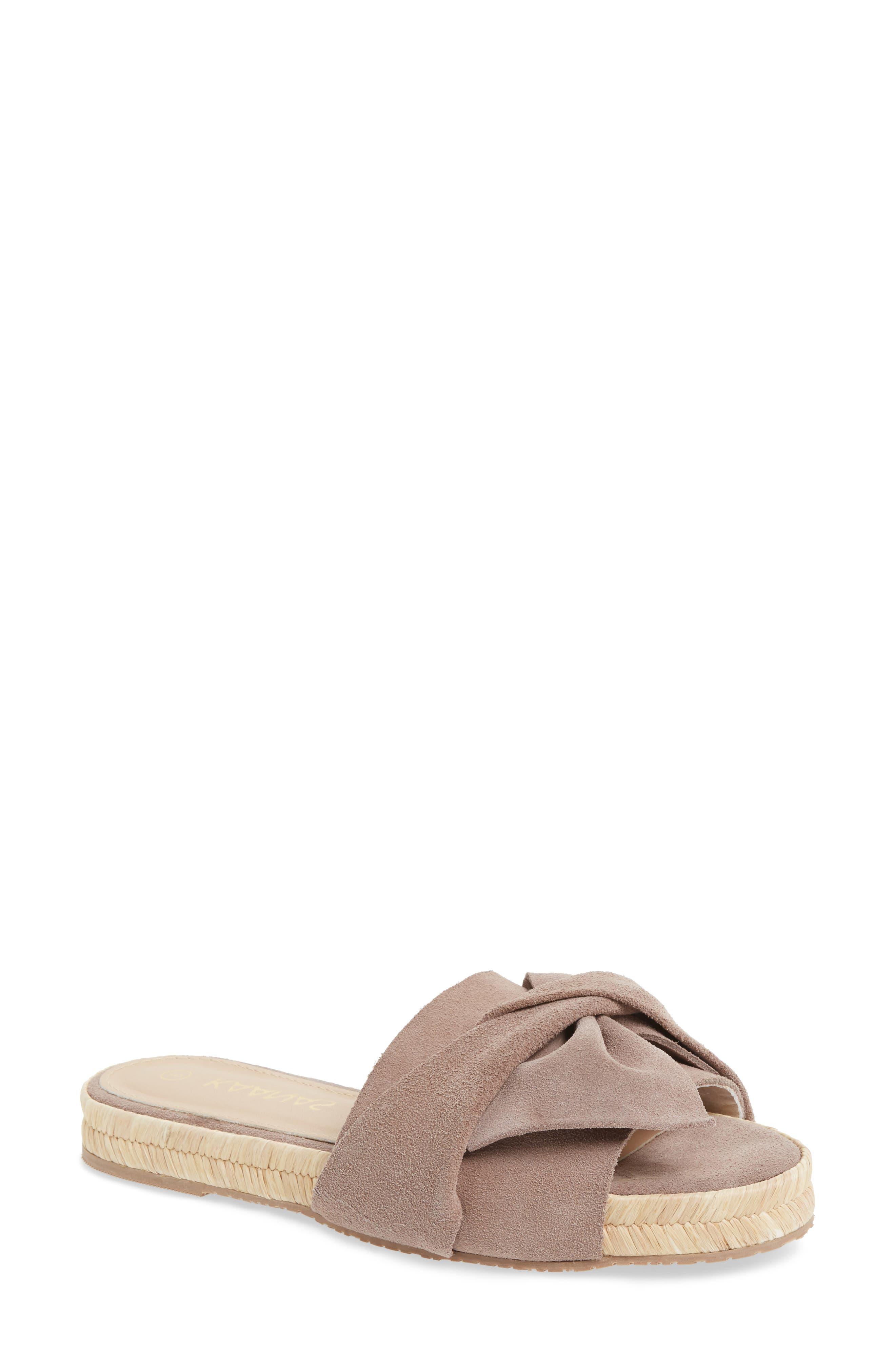 Sayulita Knotted Slide Sandal,                         Main,                         color, 500