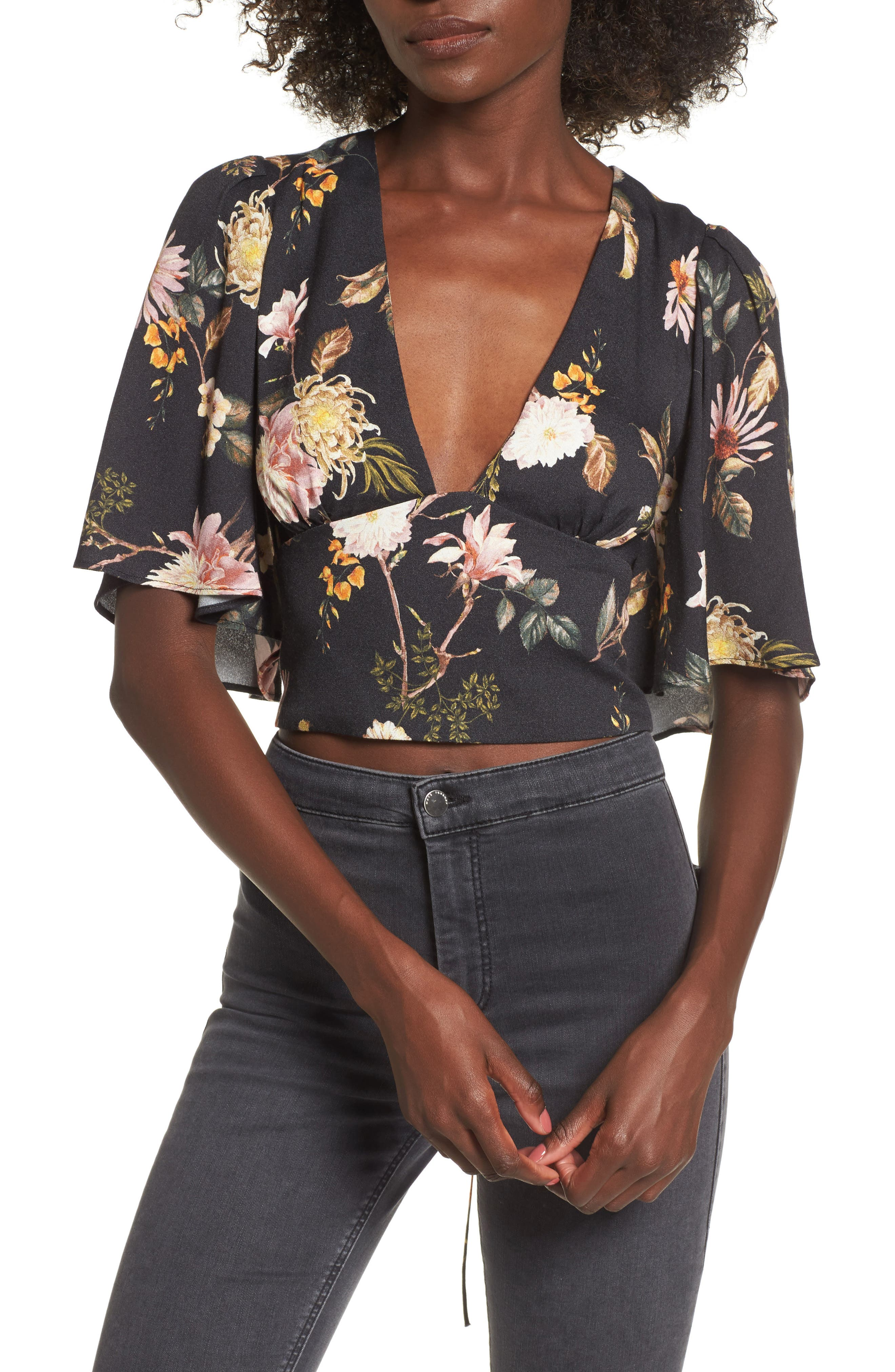 Electra Flutter Sleeve Top,                             Main thumbnail 2, color,