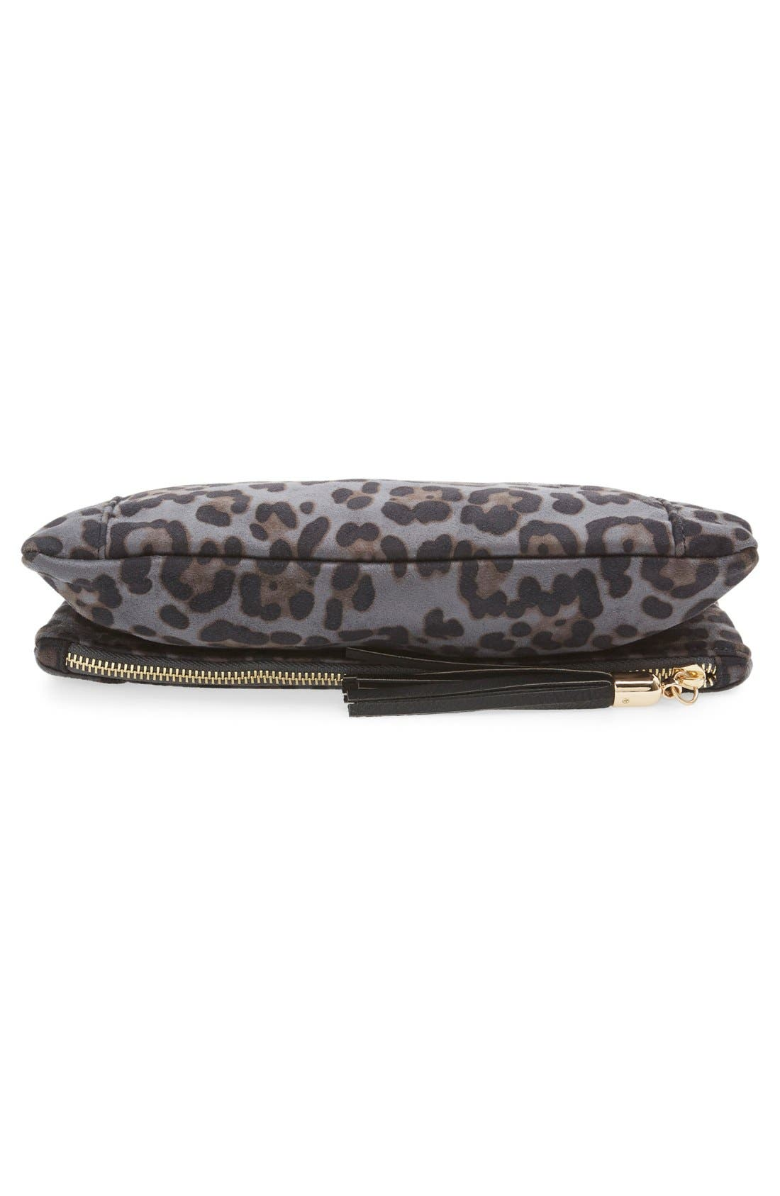 'Tasia' Print Foldover Clutch,                             Alternate thumbnail 4, color,                             020