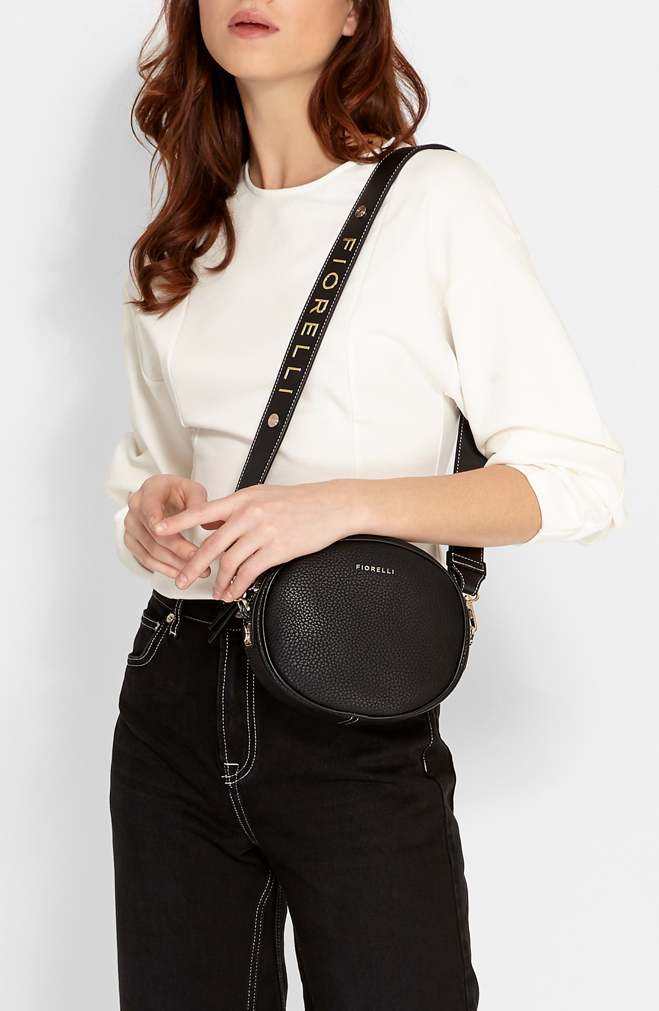 Boo Faux Leather Shoulder Bag,                             Alternate thumbnail 2, color,                             BLACK