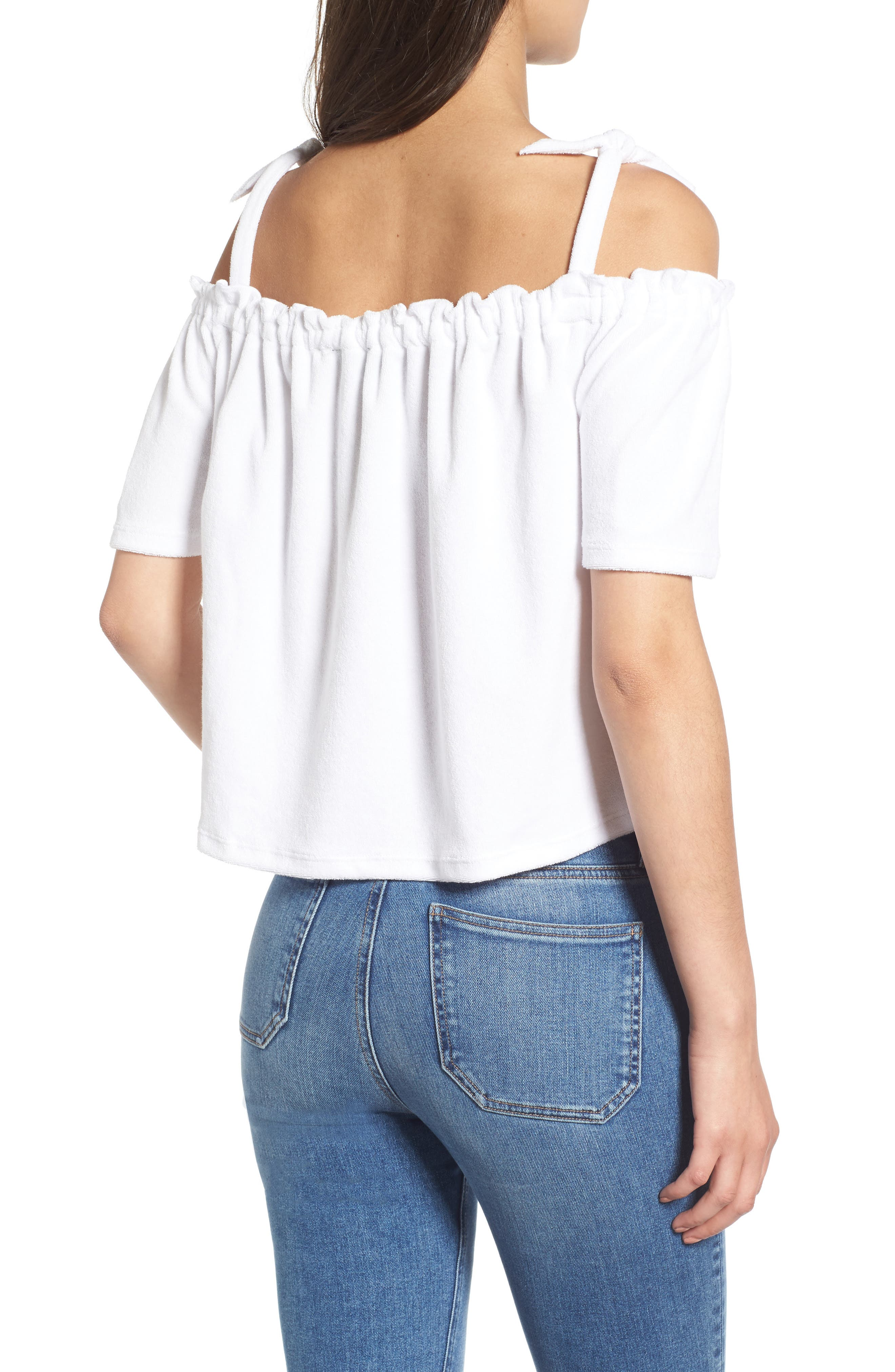 Venice Beach Microterry Off the Shoulder Top,                             Alternate thumbnail 2, color,                             119